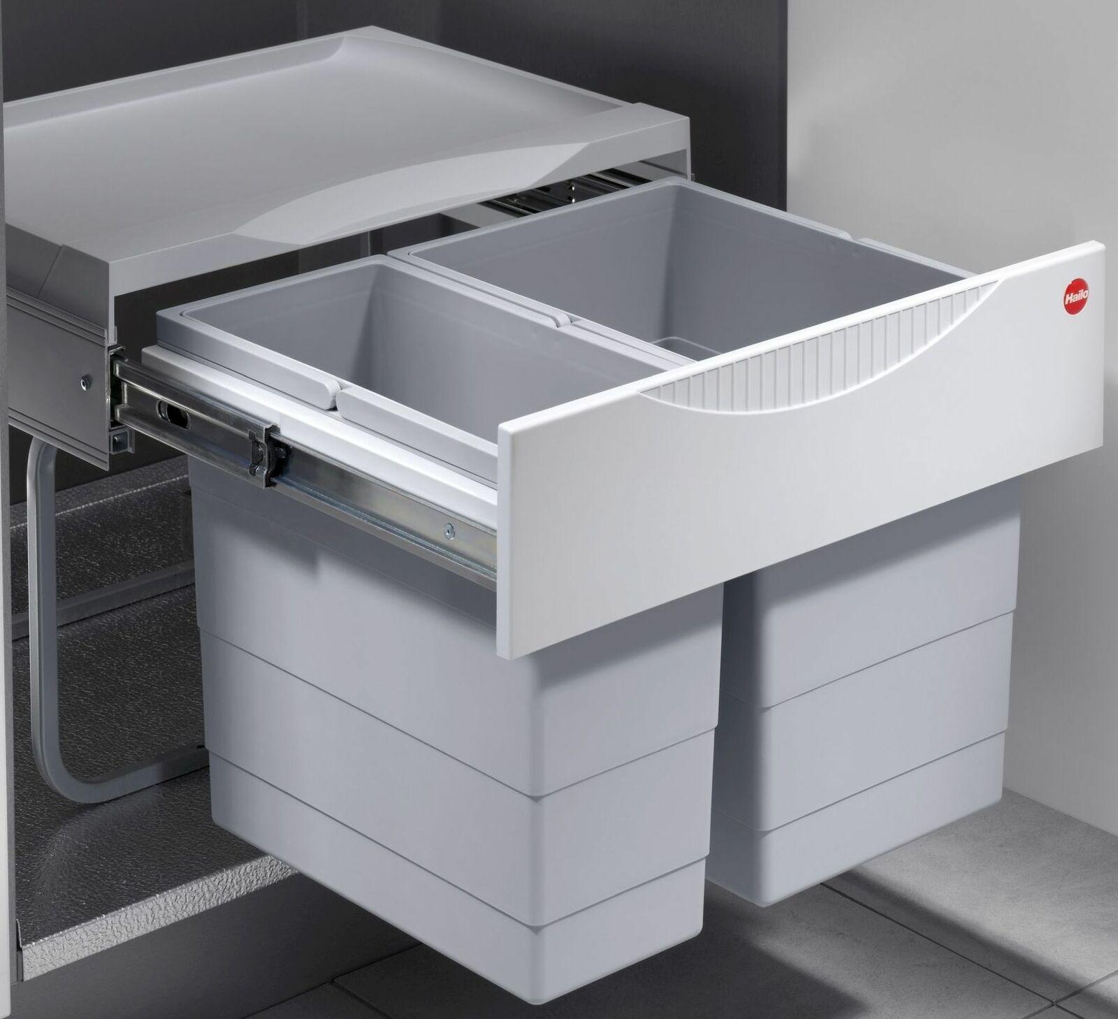 Mülleimer Küche 30 Liter Hailo Einbau Abfalleimer Müllsammler Müllsystem  *516049