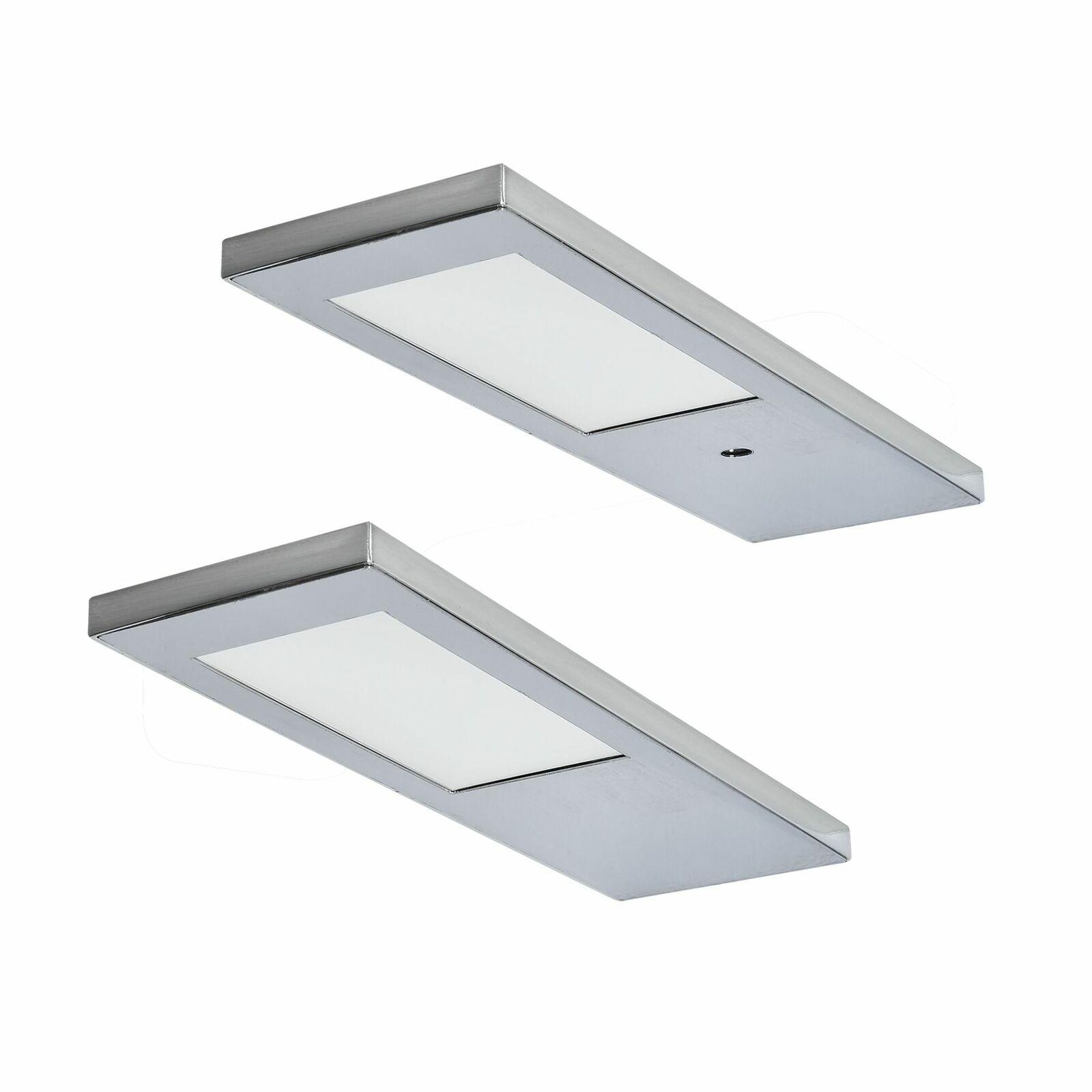 Rolux 2-er Set LED Unterbauleuchte Küche Ella 2x3, 5 W Warmweiss ...