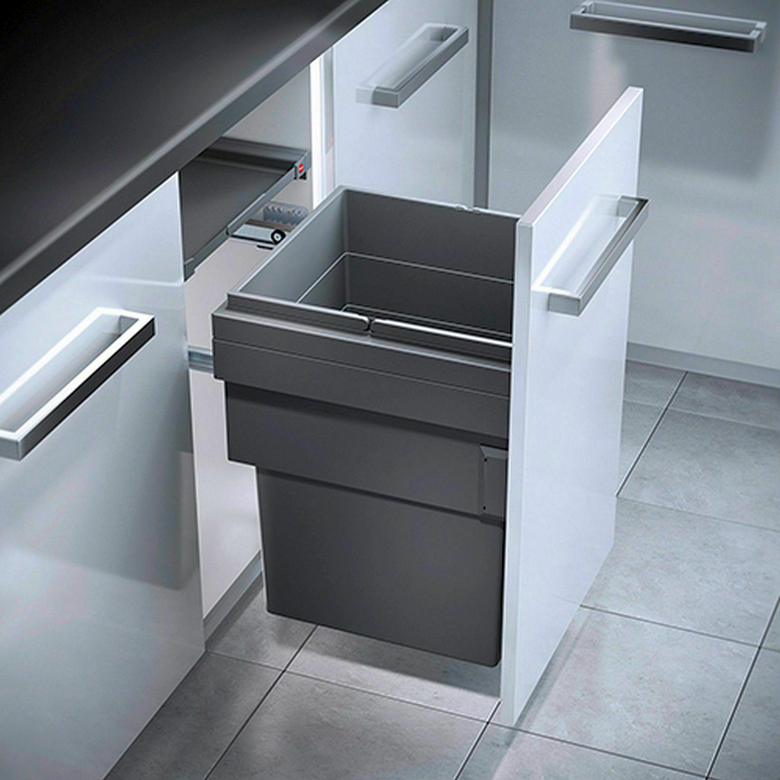 Mojawo Einbau Abfalleimer für die Küche Schrank-Mülleimer ...