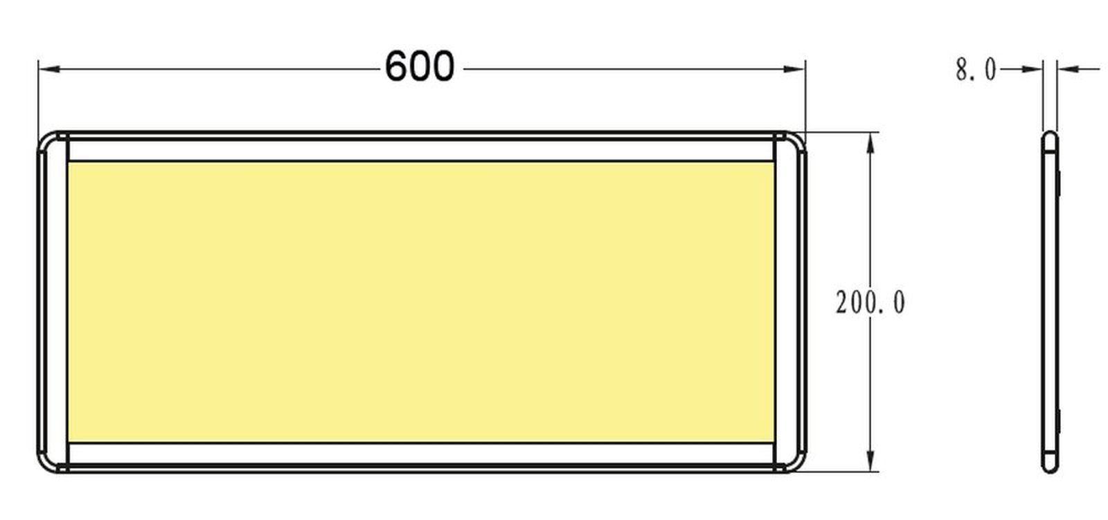 led panel unterbauleuchte k che 600 x 200 x 80 mm lido 15 w warmwei 554065 kaufen bei. Black Bedroom Furniture Sets. Home Design Ideas