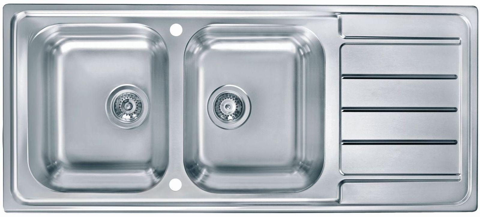 Doppelwaschbecken Edelstahl alveus edelstahl einbau küchenspüle 1160 x 500 mm doppelspülbecken