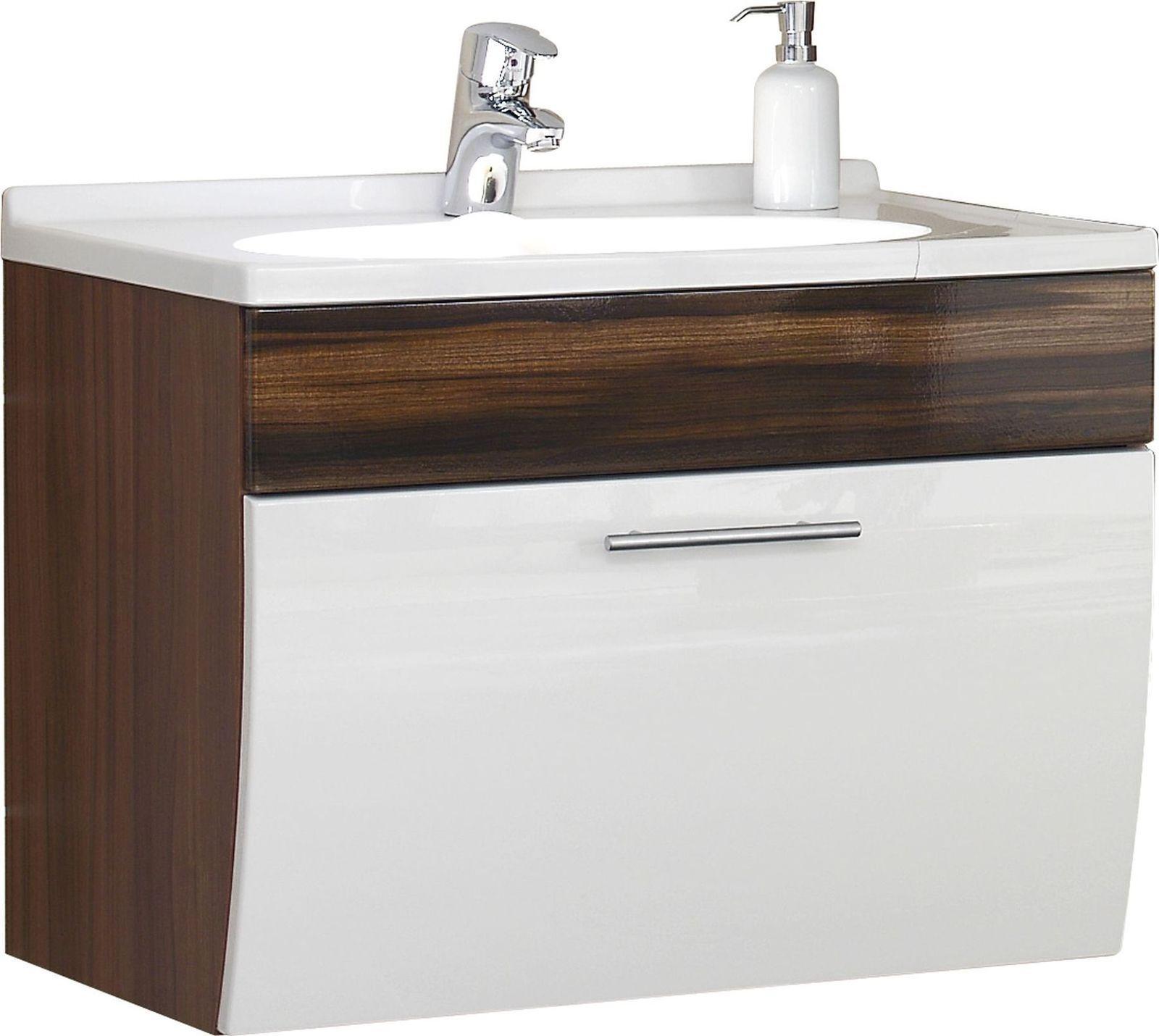 ... Waschplatz 70 Cm Mineralguss Becken Waschtisch Badmöbel Gäste Bad WC  *5600 5