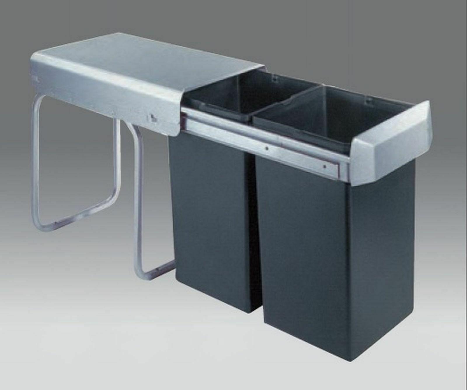 Mülleimer Küche 2x15 Wesco Mülltrennung Küchenschrank ab 30 cm Müllsystem  *40335