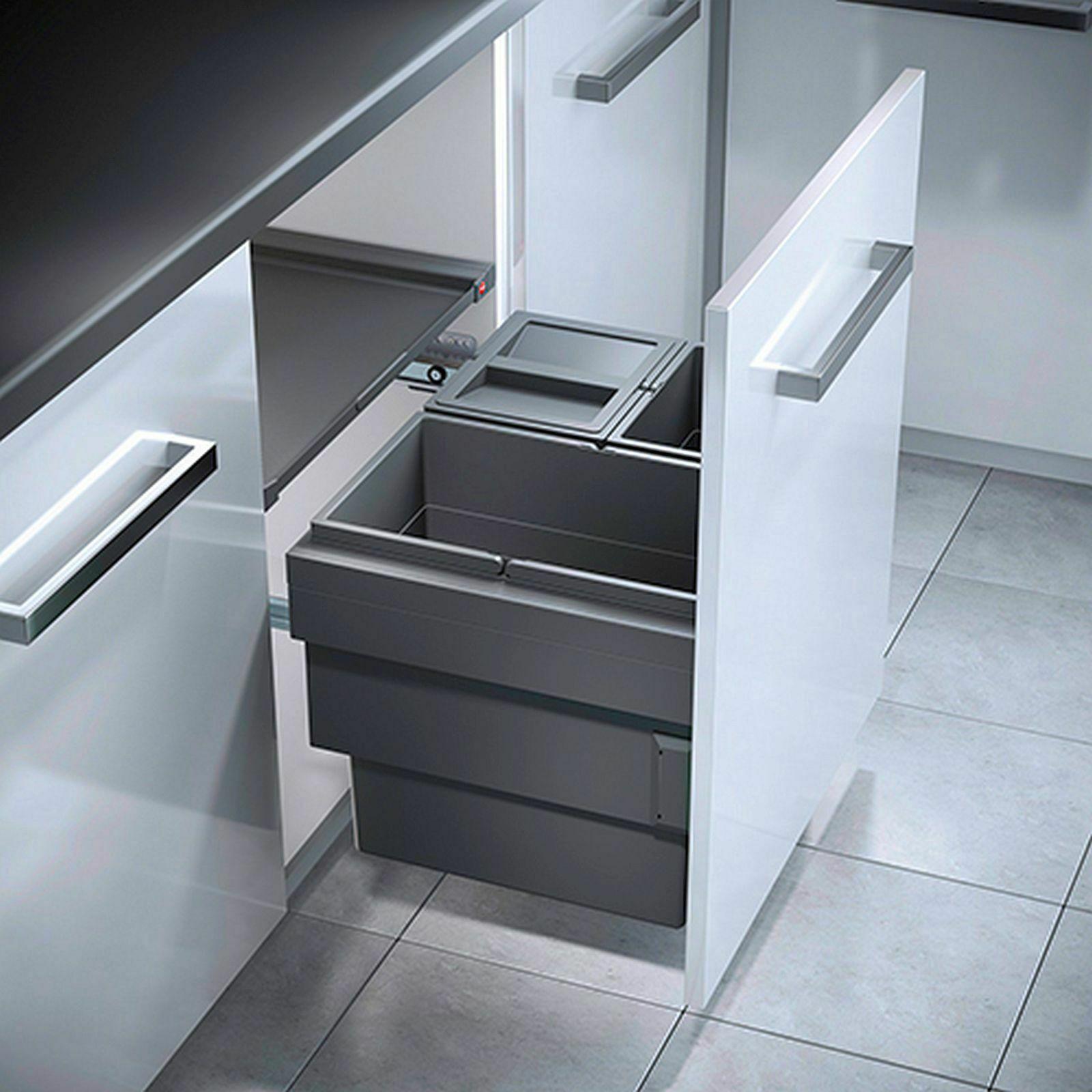 Hailo Cargo-Synchro Mülleimer Küche Einbau-Abfallsystem 60 cm ...