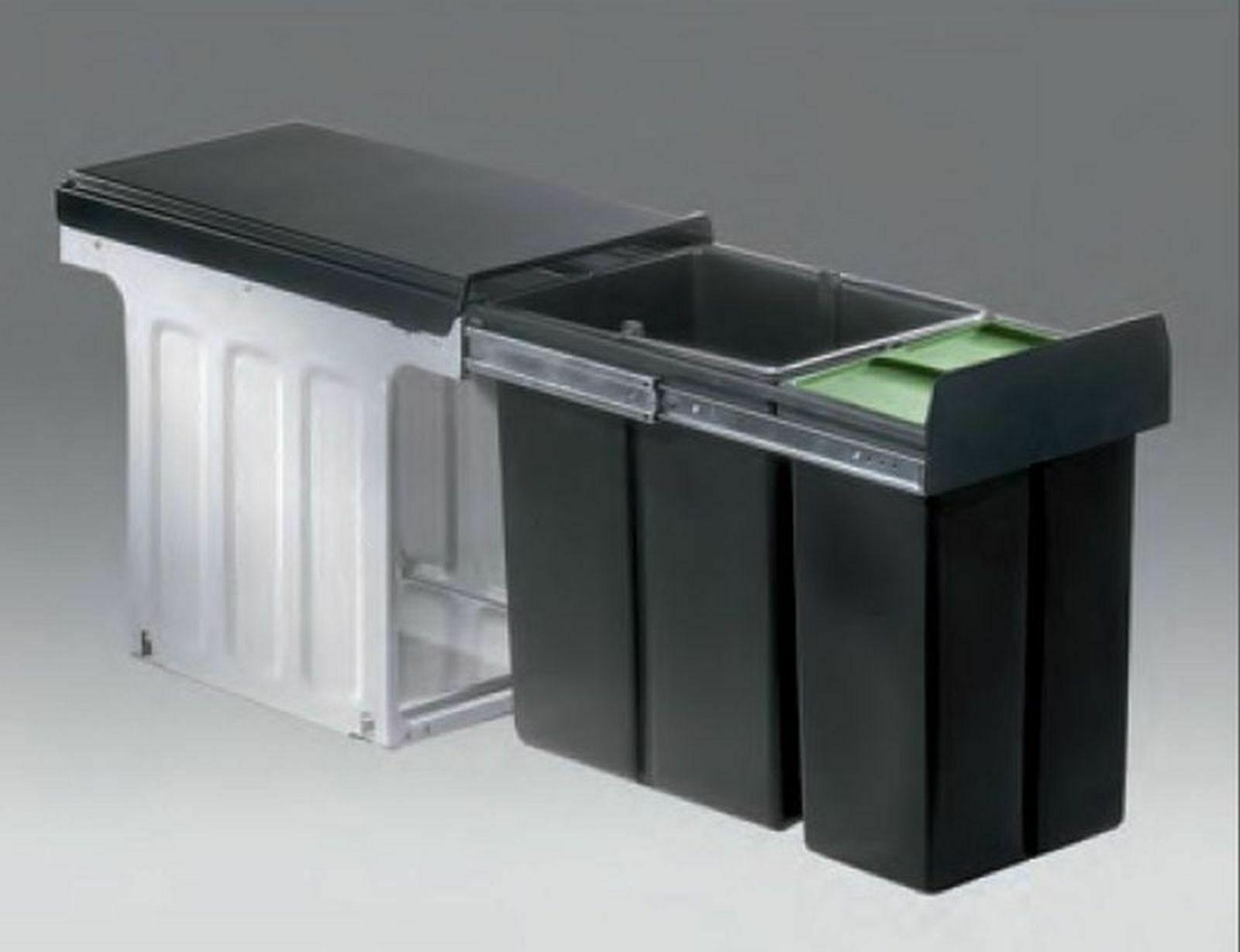 Einbau Mülleimer Küche 24 L Wesco Abfalleimer Mülltrennung Müllsystem *40313