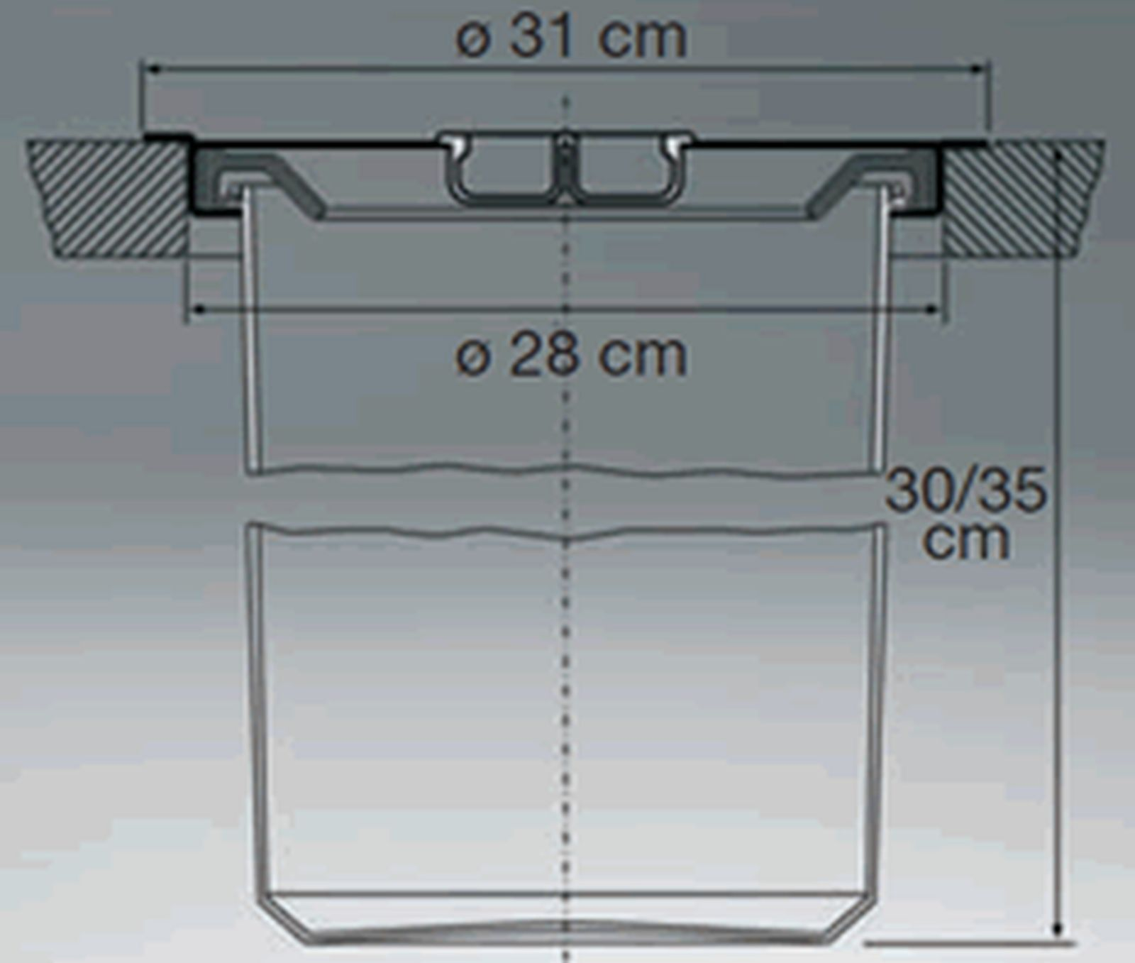 wesco ergomaster k chen m lleimer 13 liter einbau arbeitsplatte bioeimer 47309 kaufen bei. Black Bedroom Furniture Sets. Home Design Ideas