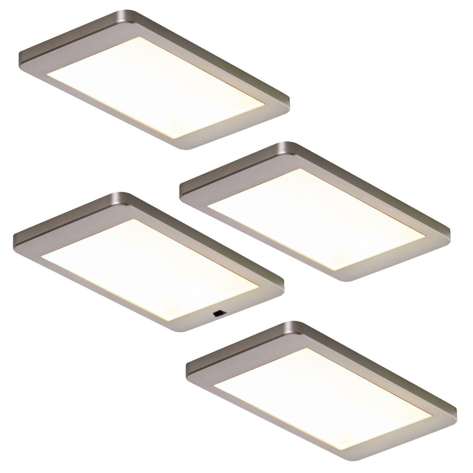 LED 4-er Set Küchen Schrank Unterbauleuchte je 5, 5 W Lichtfarbe ...