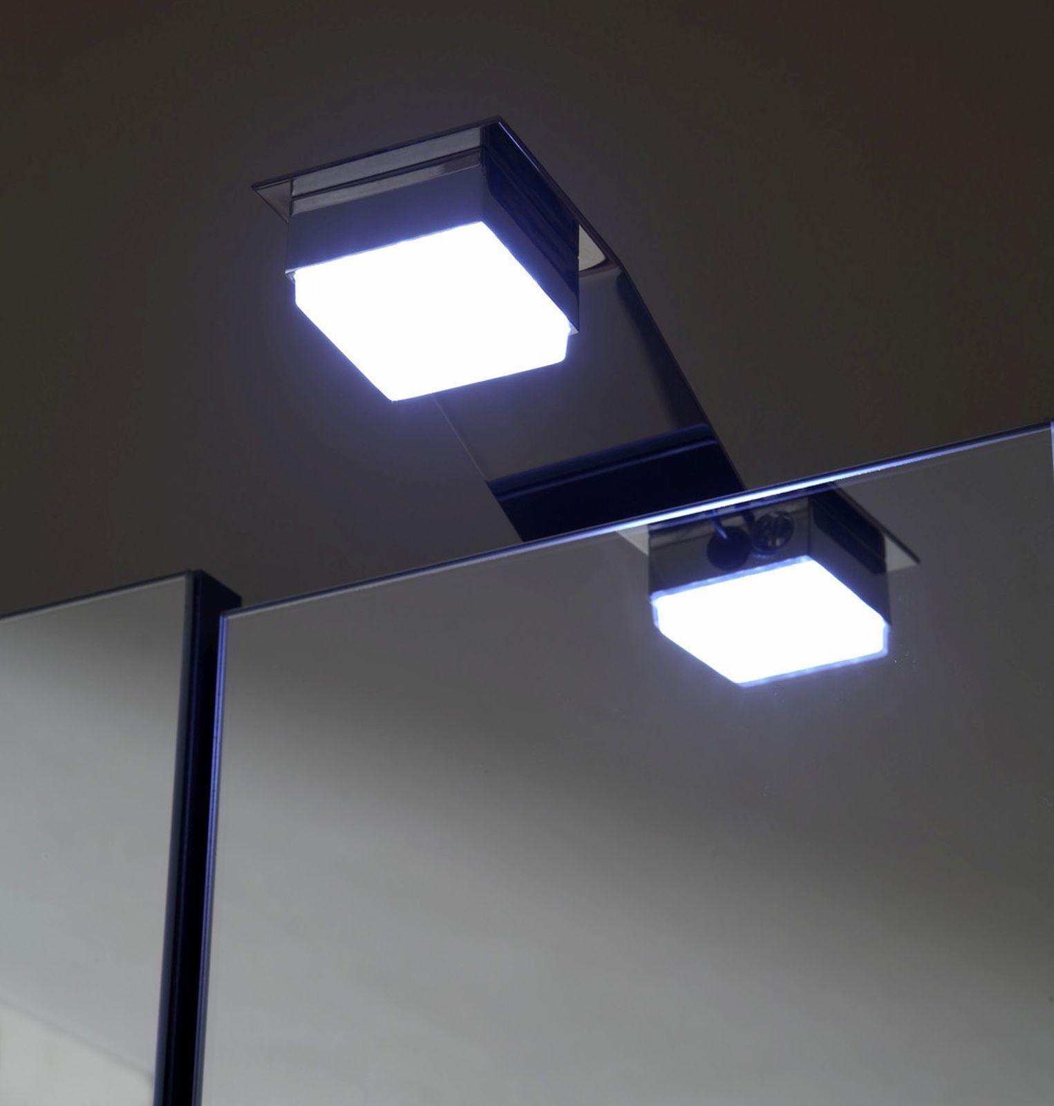Badspiegel 68cm Spiegelschrank 3 Turen Led Beleuchtung Schalter