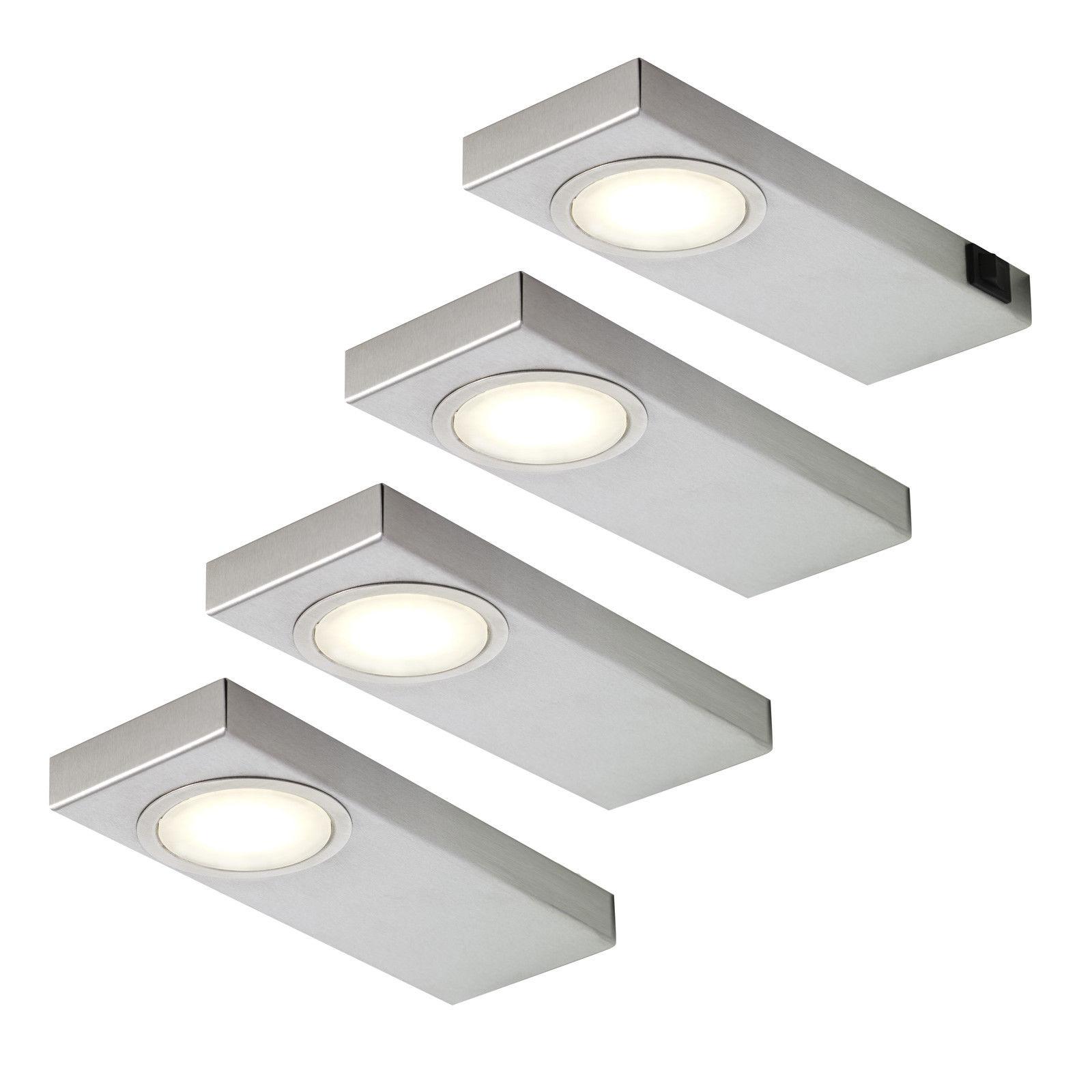4-er Set LED Küchen Unterbauleuchte je 3, 5 Watt Neutralweiss 4000 ...