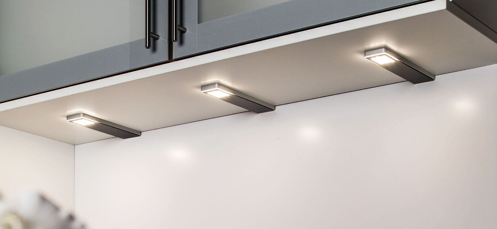 4-er Set LED Unterbauleuchte Lampen dimmbar Küche 4x5 W Konverter ...