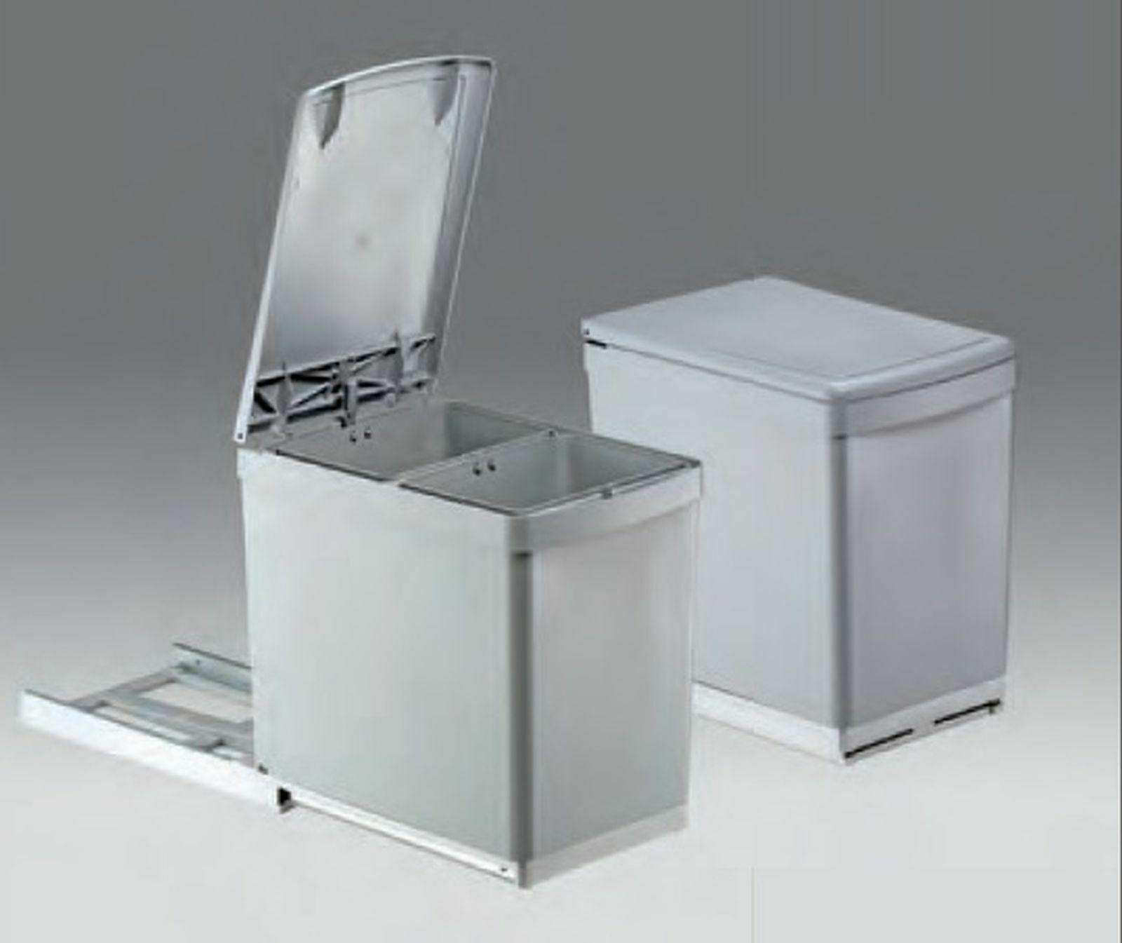 Turbo Mülleimer Küche 2x7, 5 L Einbau Küchenschrank ab 30 cm Wesco CG61