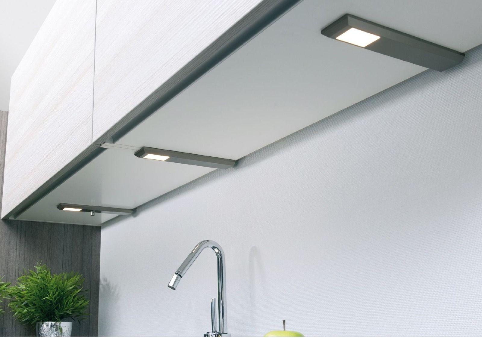 LED 3-er Set Küchen Unterbauleuchte Milano 3 x 6 W dimmbar Lampe ...