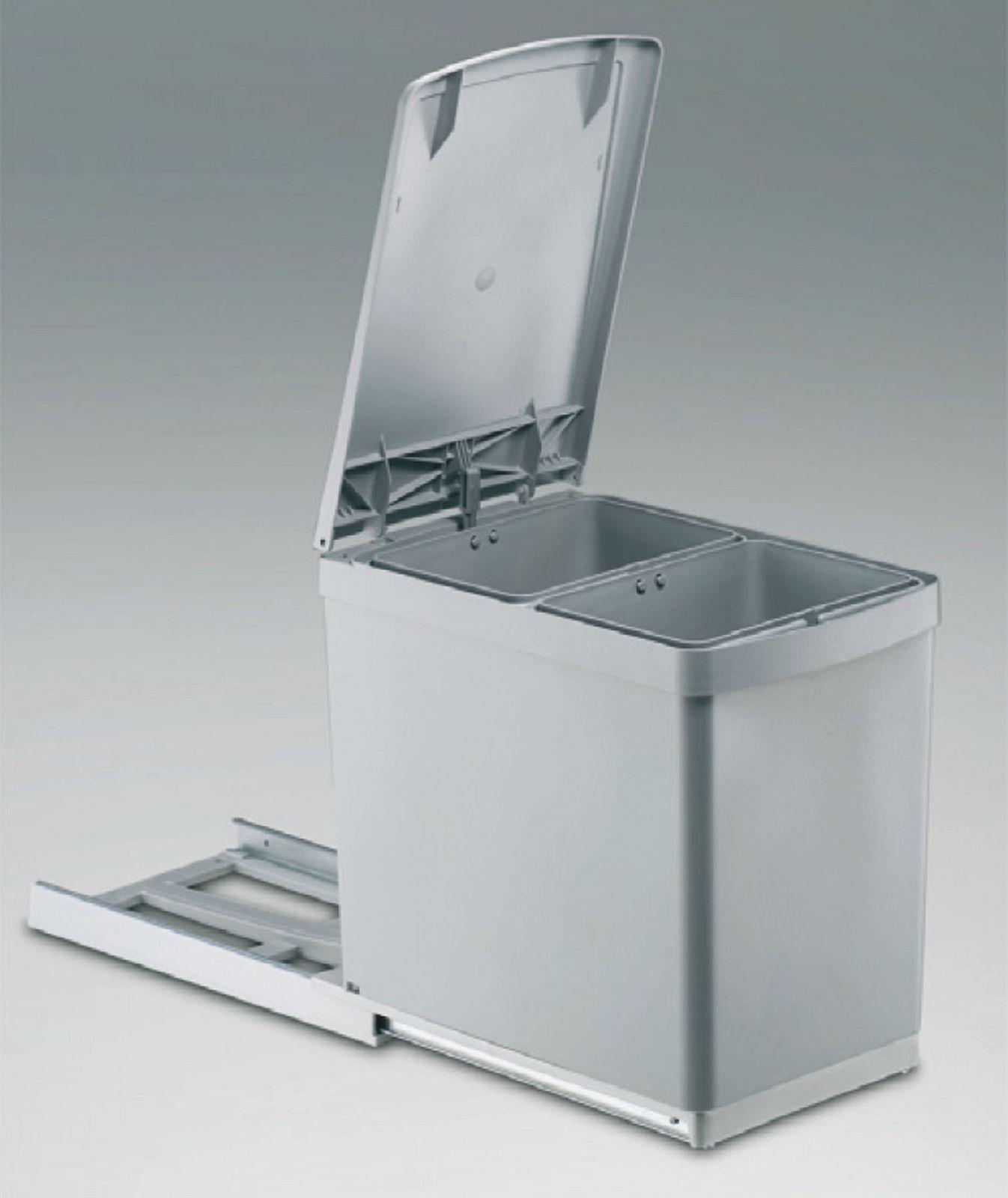 Wesco Basic-2 Vollauszug 2 x 7, 5 L Abfall-/Mülleimer 30 cm ...