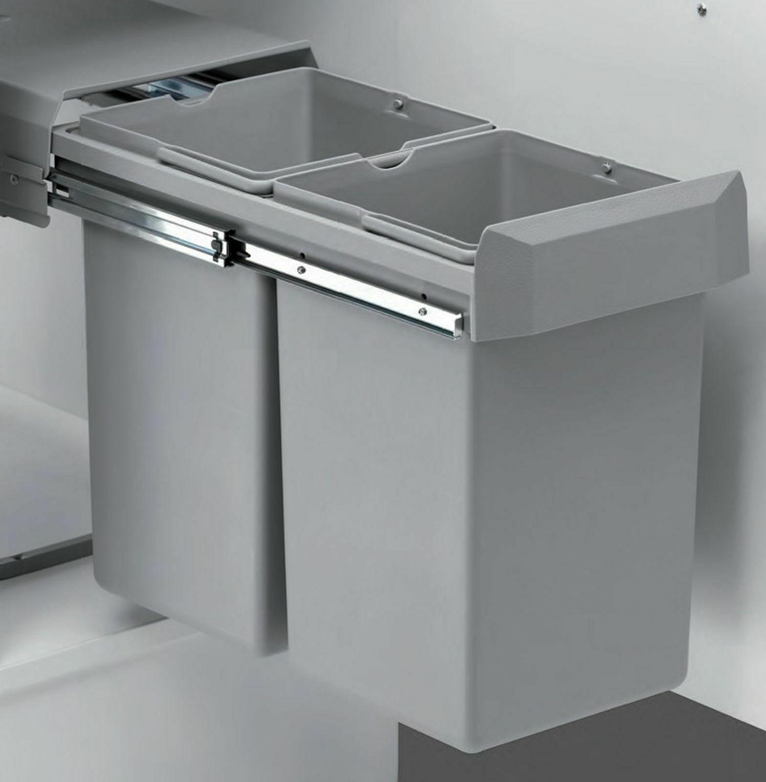 Wesco Küchen Mülleimer 2x15 Liter Einbau Mülltrennung Abfall ...