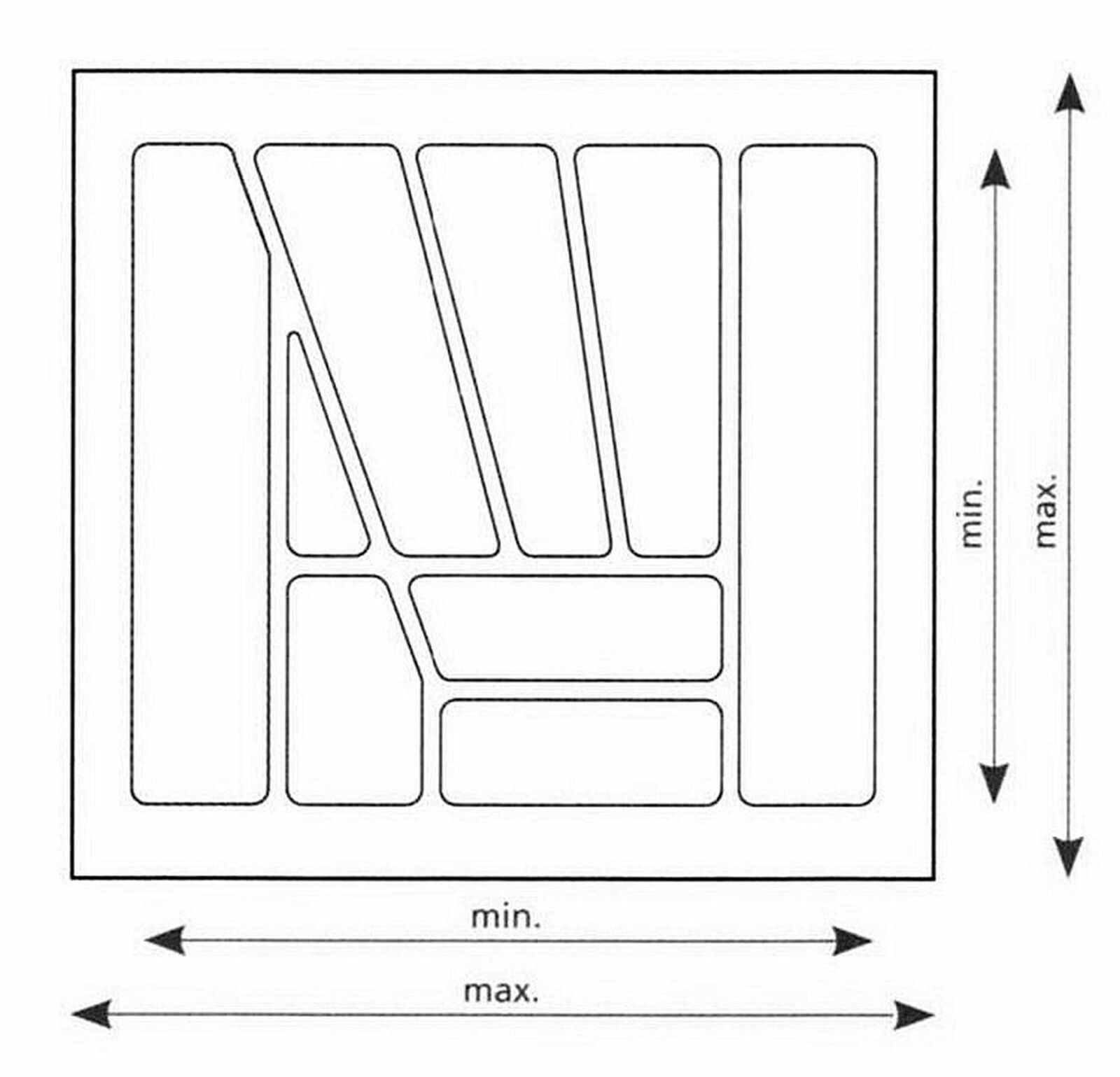 Besteckeinsatz Zuschneidbar Besteckkasten 50 Cm Schublade Anpassbar Multi 50 Kaufen Bei Livingpoint24