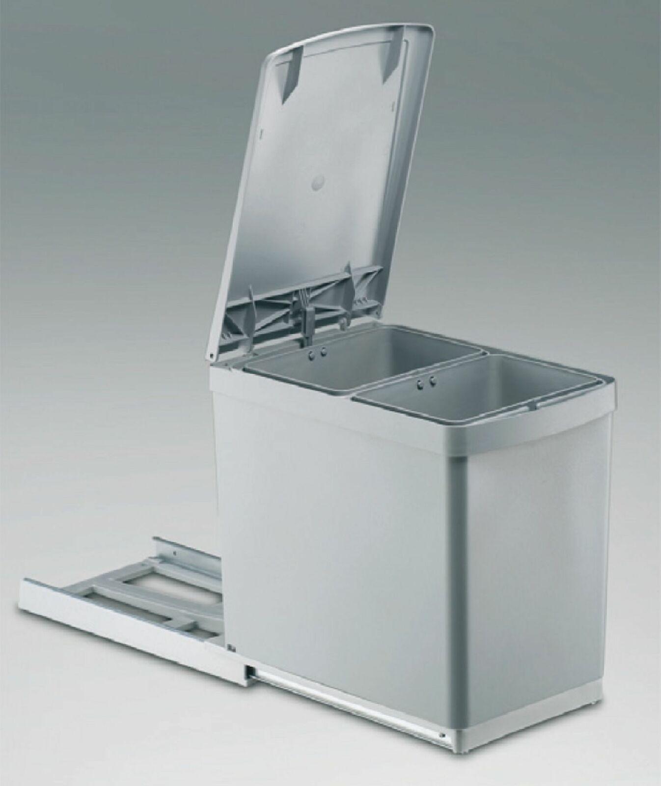 Häufig Mülleimer Küche 2x7, 5 L Einbau Küchenschrank ab 30 cm Wesco FS03