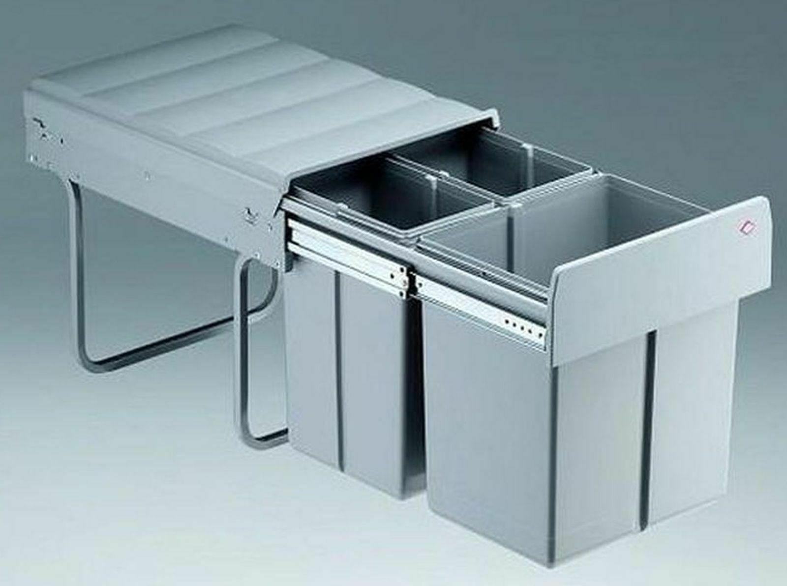 Küchen Mülleimer Abfalleimer 19 Liter Mülltrennung Wesco Müllsystem Trio  *19