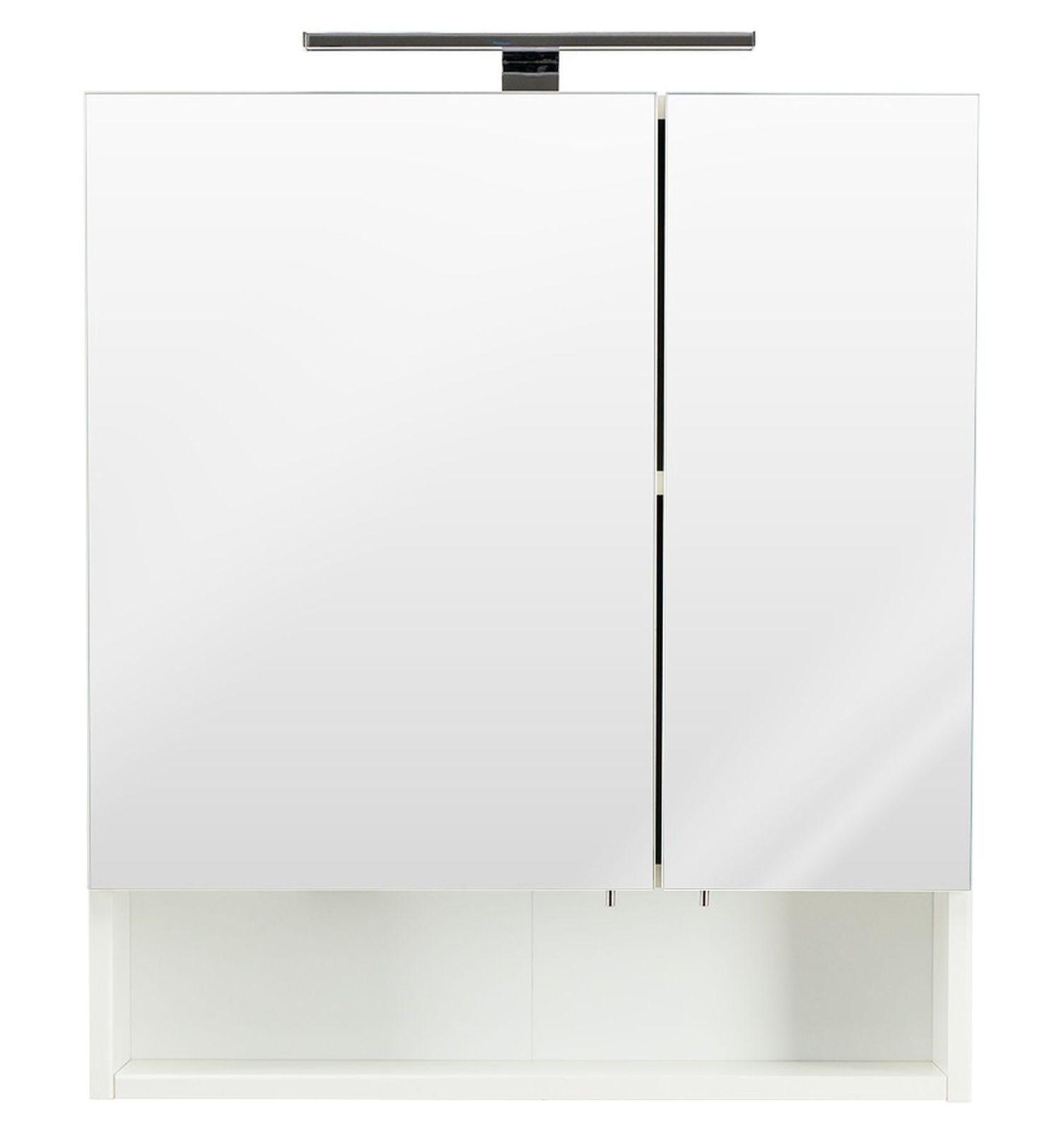 LED Badezimmer Spiegelschrank 60x68 cm Bad Spiegel Schalter ...