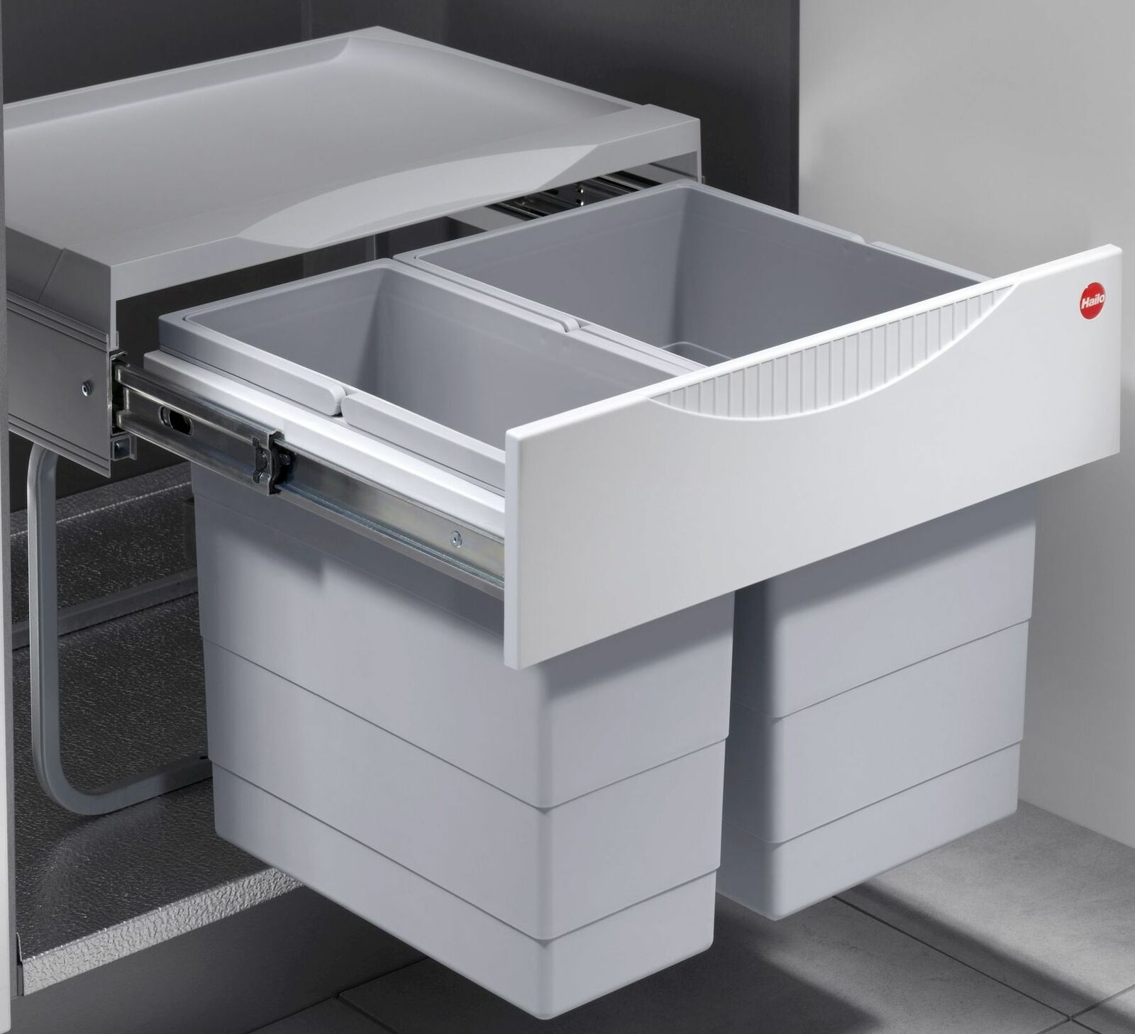 Mülleimer Küche 20 Liter Hailo Einbau Abfalleimer Müllsammler Müllsystem  *20