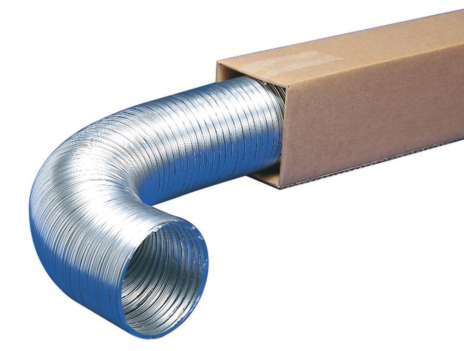 Abluft aluminium flexschlauch m trockner Ø mm abzugshaube