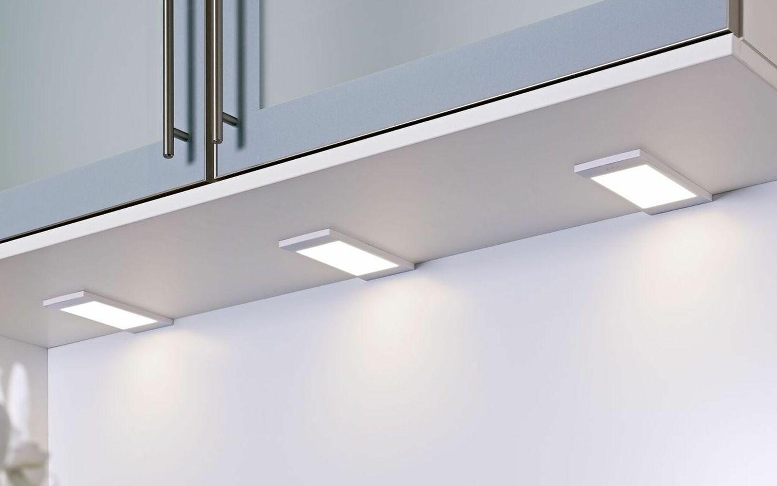 4-er Set LED Küchen Unterbauleuchte SANTO 3, 5 W dimmbar Warmweiss ...