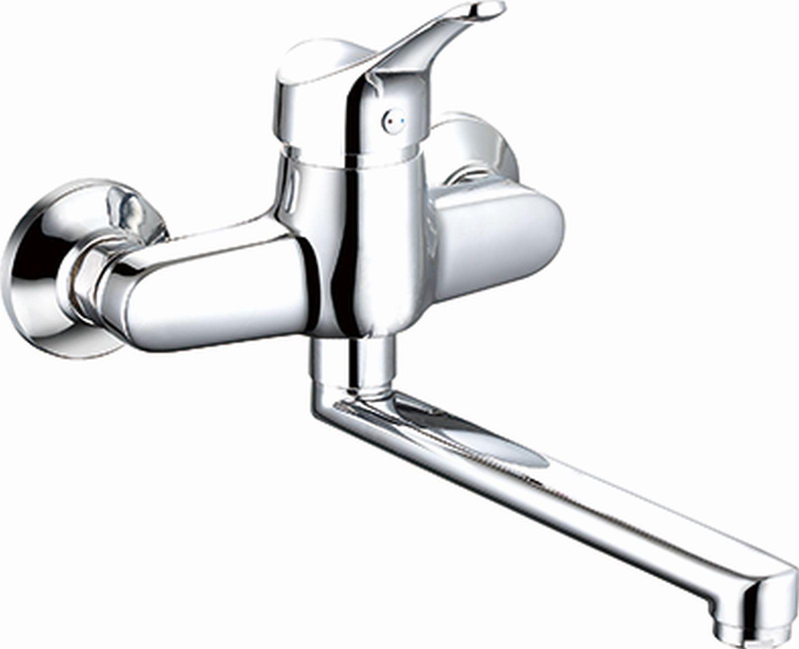 Abwasch k chenarmatur wasserhahn wandmontage einhandmischer schwenkauslauf 0400 kaufen bei - Wasserhahn wand ...