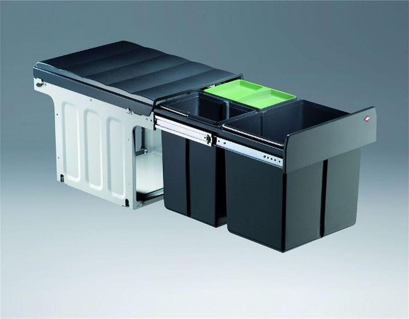 wesco trio master 40dt abfall bio m lleimer k che 1 x 16 2 x 8 liter 40314 kaufen bei. Black Bedroom Furniture Sets. Home Design Ideas