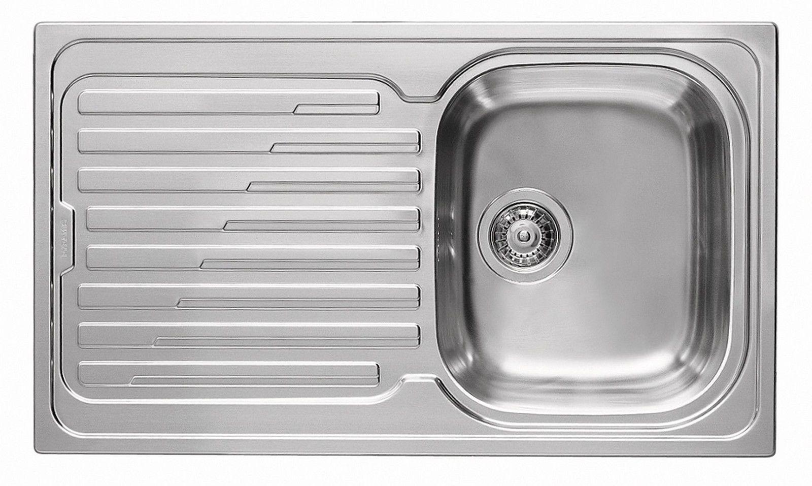 Küchen Einbauspüle 86x50cm Waschbecken Edelstahl