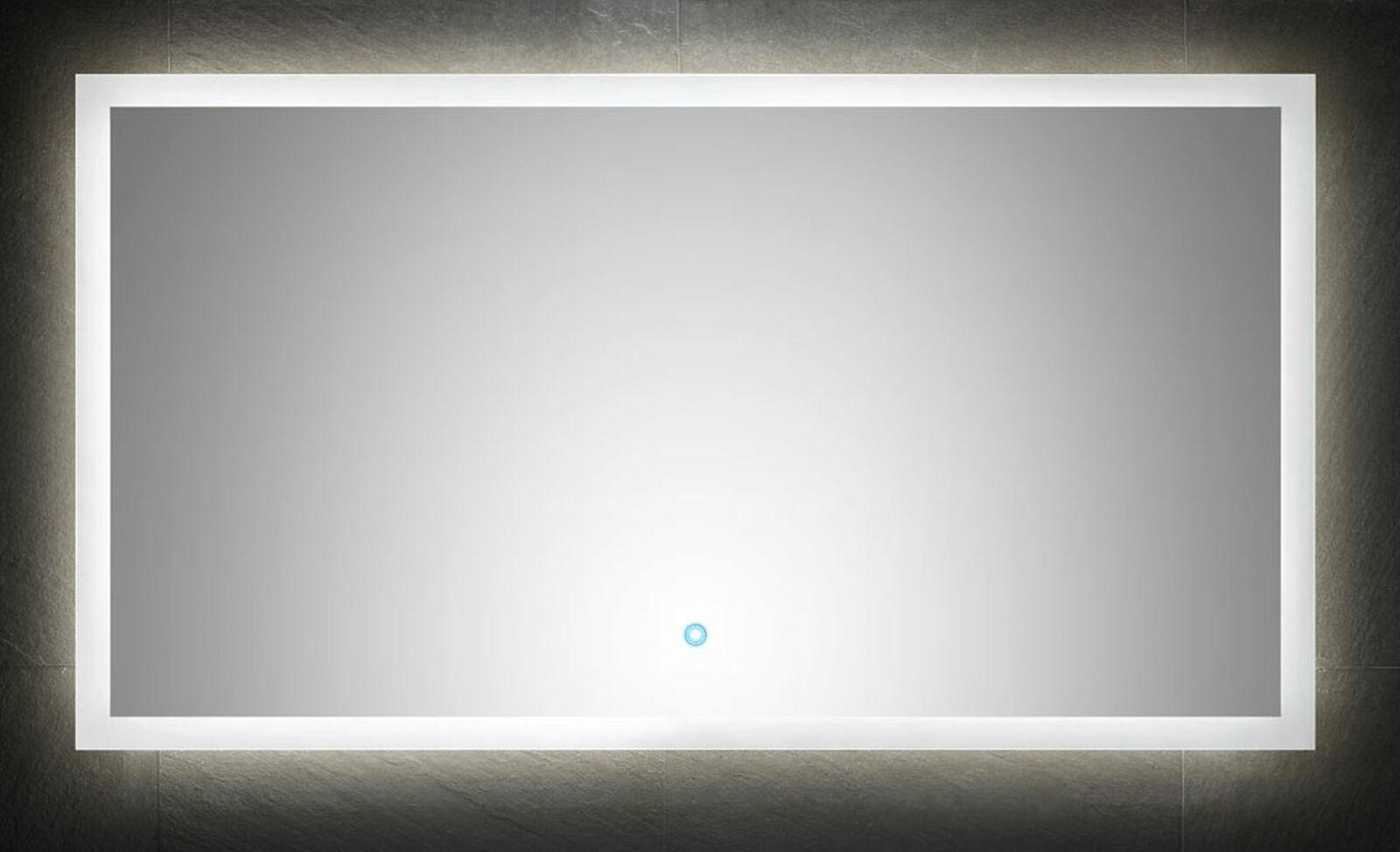 Bevorzugt Badezimmer Spiegel 120x65 cm Touch Badspiegel LED Beleuchtung SA74