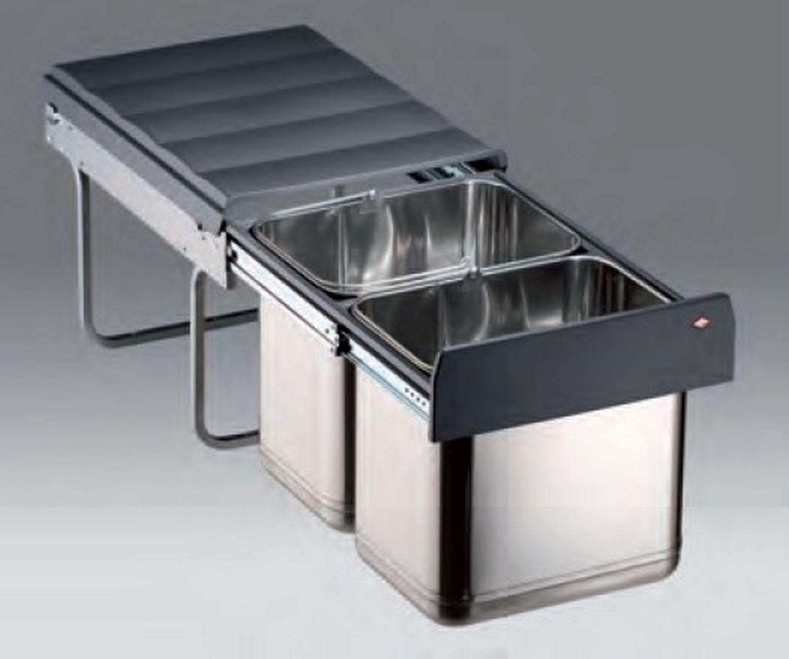 Wesco Edel Master 40DT Edelstahl Abfall Mülleimer Küche 2 x 16 Liter ...