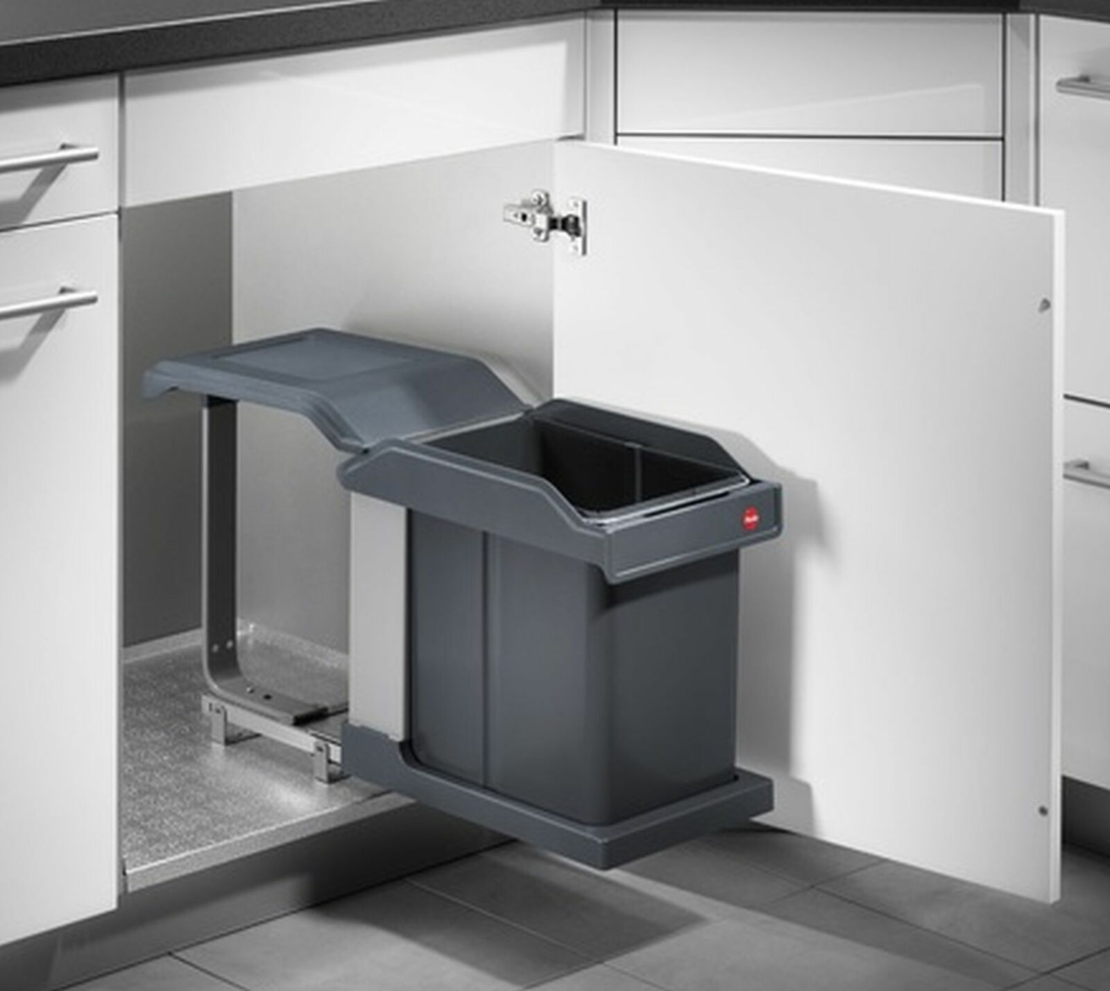 Mülleimer Küche Ausfahrautomatik Einbau ab 40 cm Hailo Solo 1x20 Liter  *43516