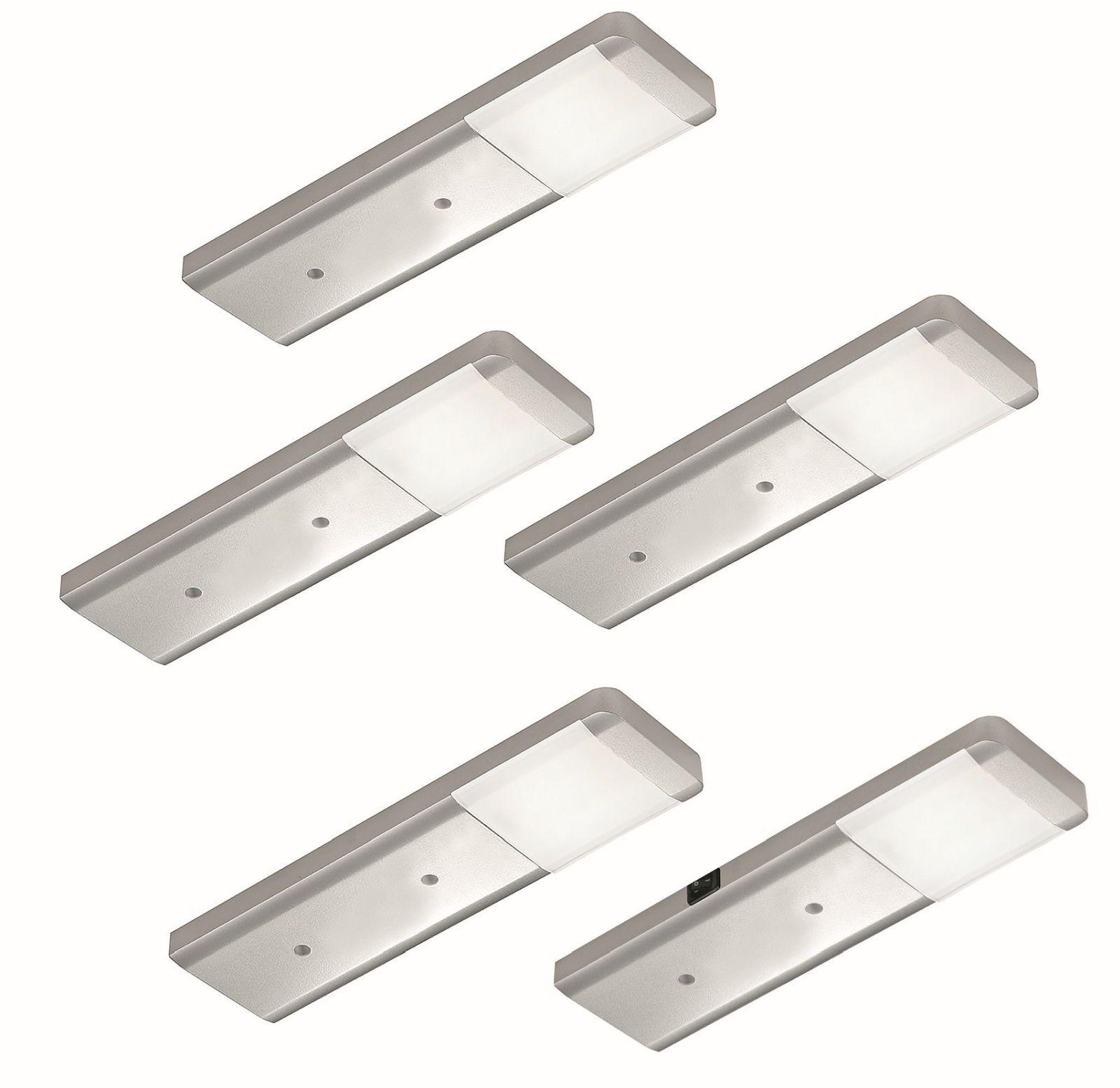 5-er Set LED Küchen Unterbauleuchte FJONA 5 x 2, 5 W Masterschalter ...
