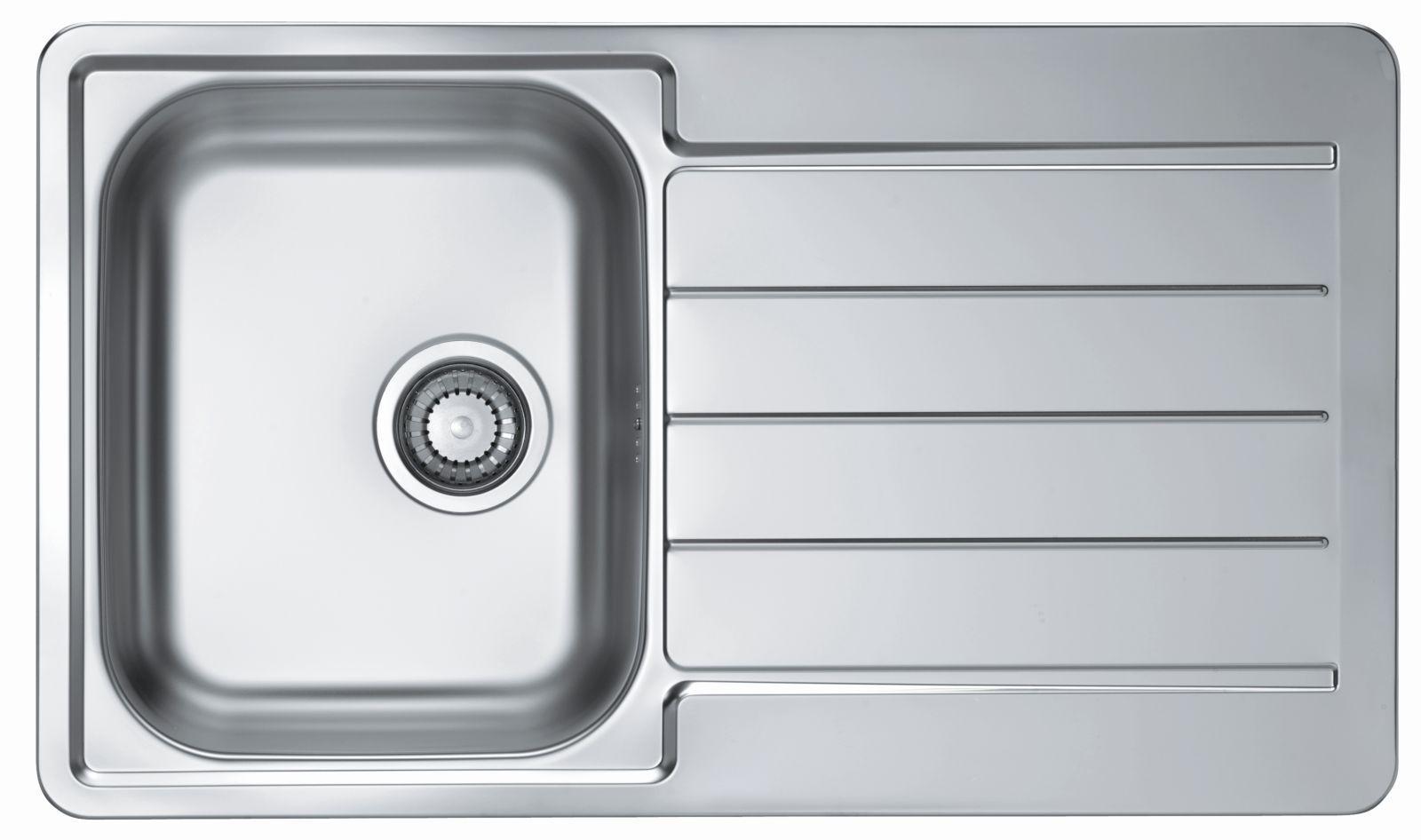 Alveus Spüle Küchenspüle 860x500 mm Einbauspüle Spülbecken Edelstahl ...