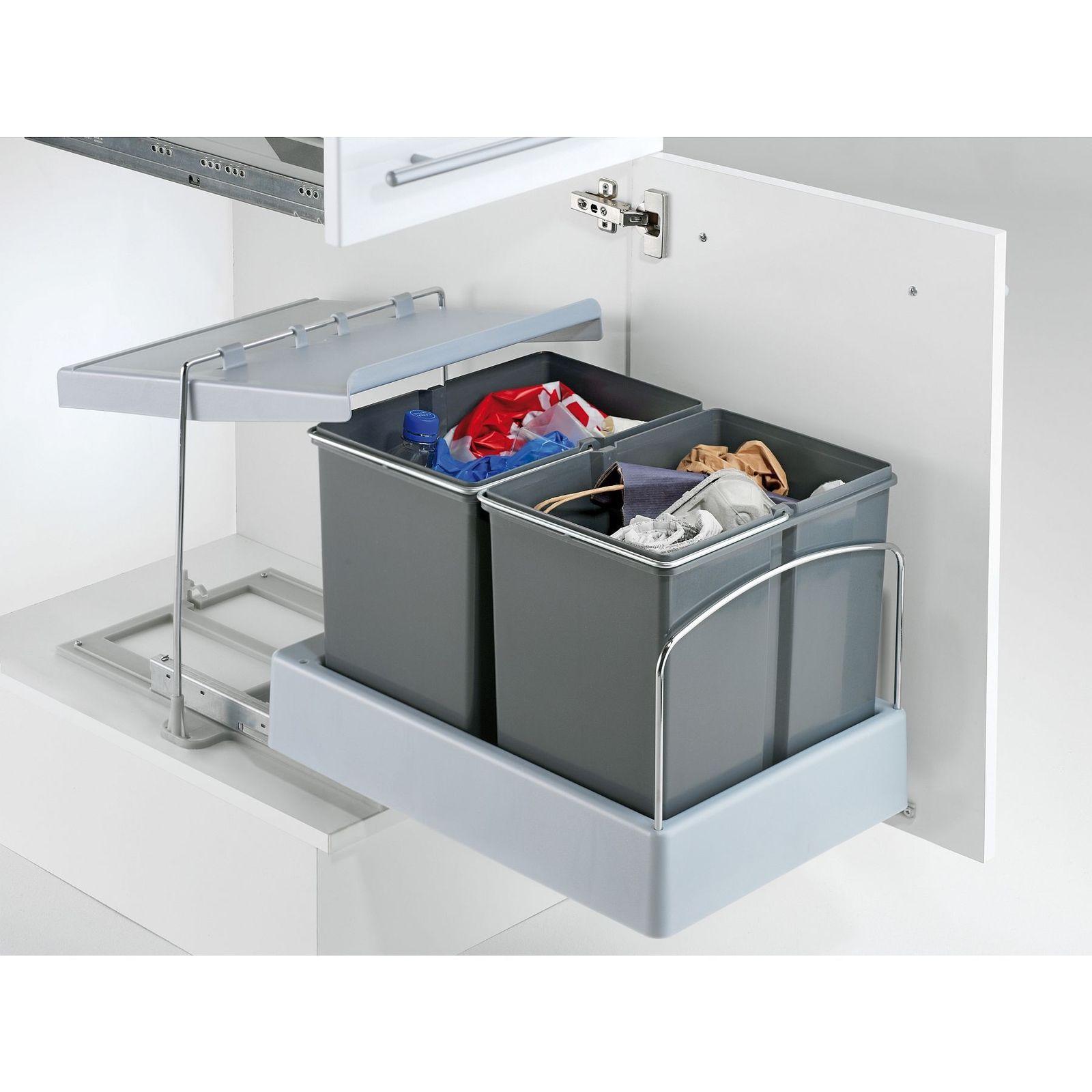 Wesco Automatik Masterboy Einbau Bio Abfall Mülleimer Küche 2 x 15 ...
