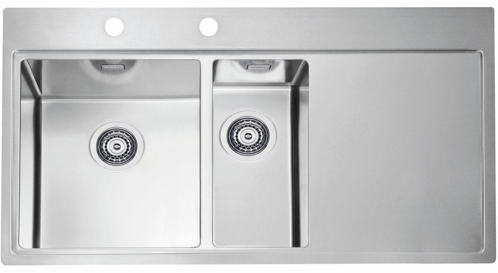 Alveus Küchenspüle Einbauspüle 980x525 mm Abwaschbecken Edelstahl ...