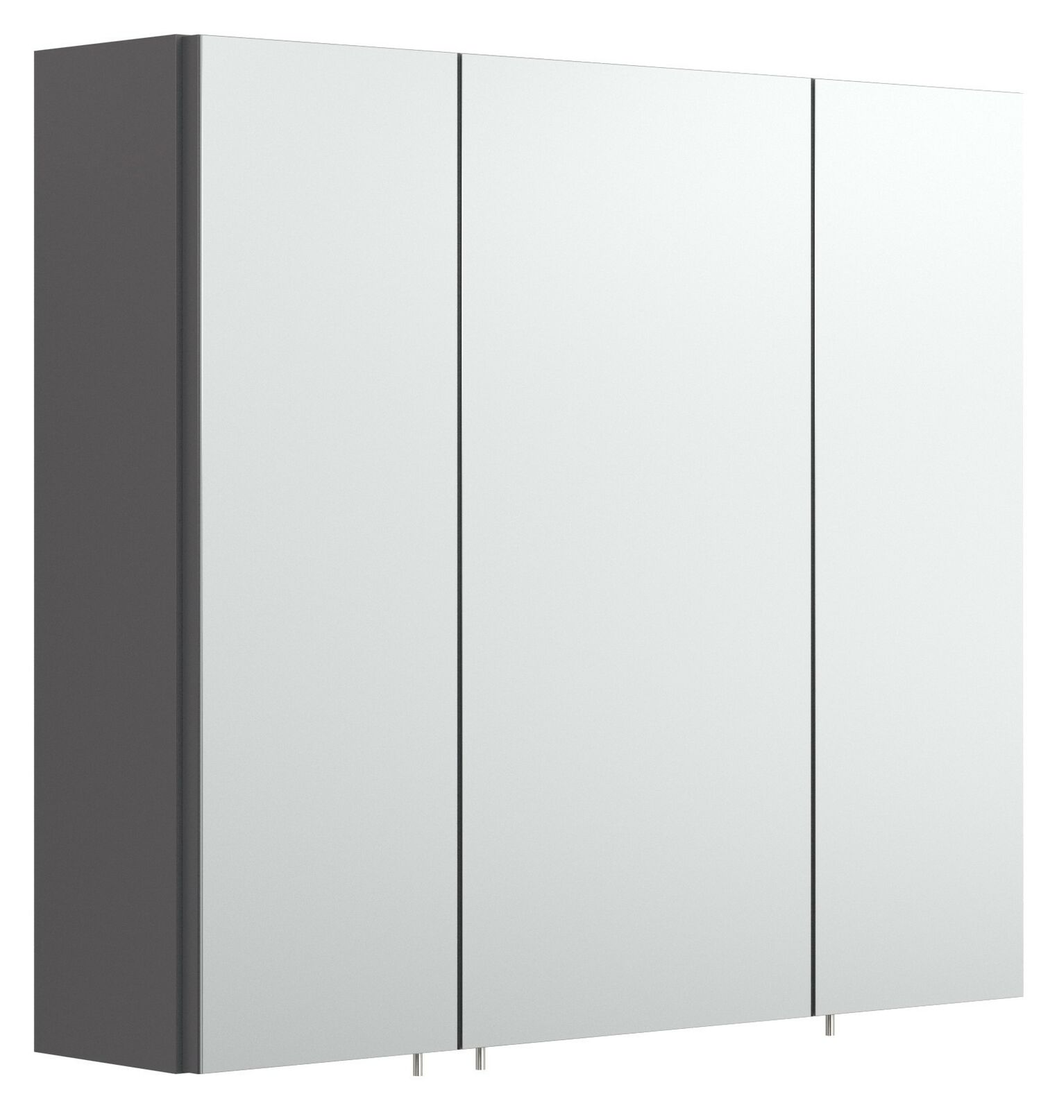 Badezimmer Spiegelschrank 11 cm Spiegel anthrazit 11-türig ohne Beleuchtung  *11