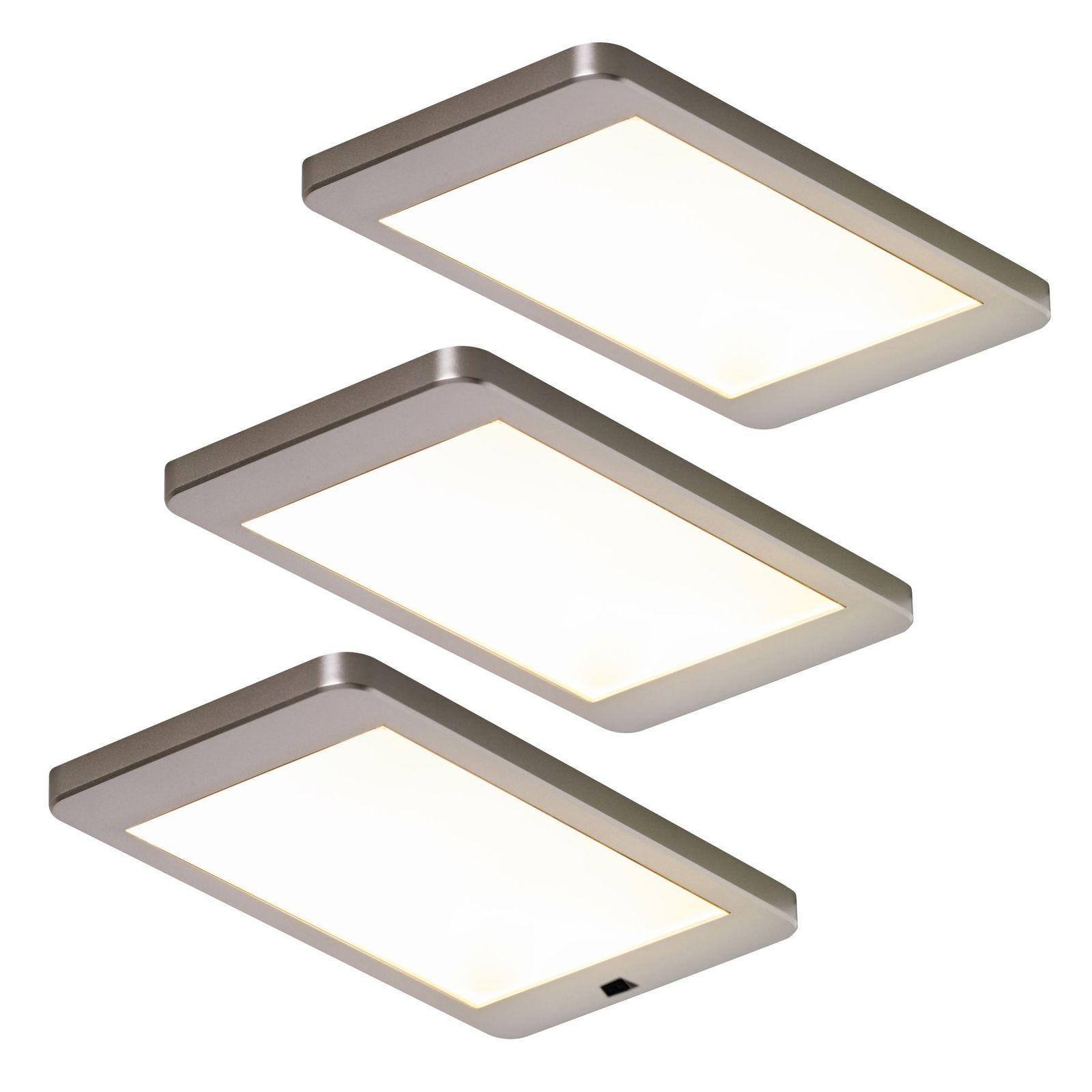 LED 3-er Set Küchen Unterbauleuchte Licht 3 x 5, 5 W Lichtfarbe ...