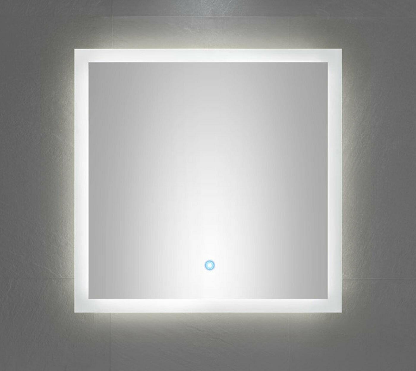Hervorragend LED Badspiegel 60x60 cm Touch Bedienung Spiegel warmweiss 120 LED GH07
