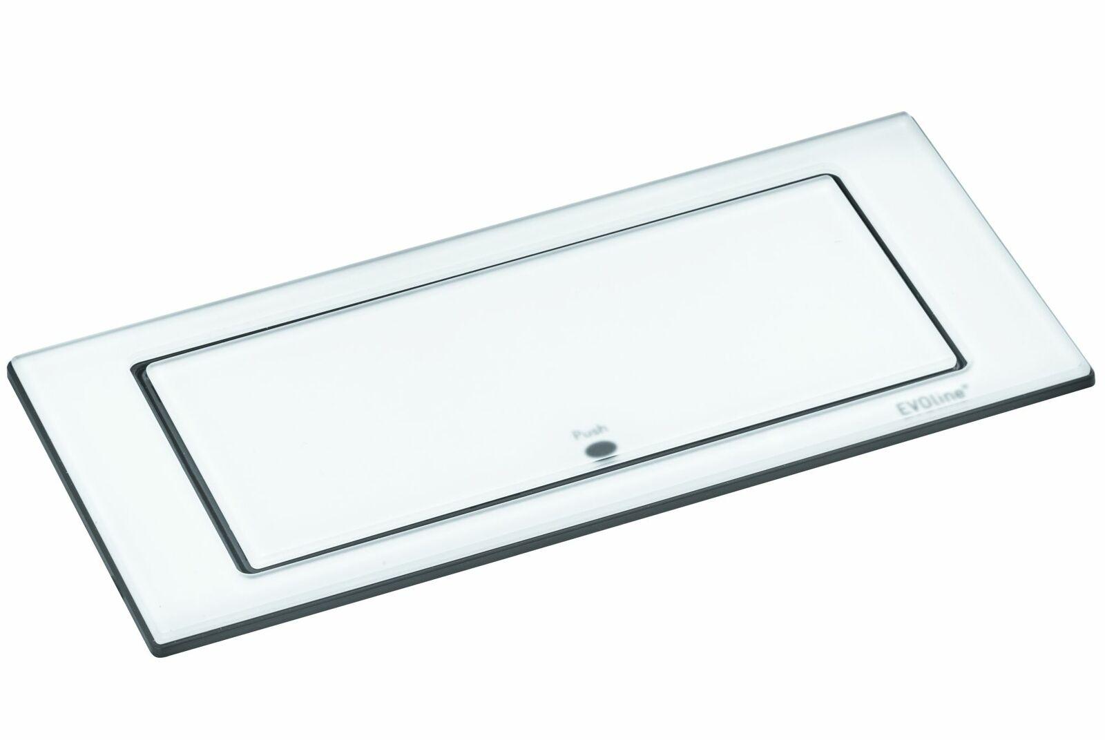Küchensteckdose Evoline Port 2-fach Einbausteckdose mit USB versenkbar *543090
