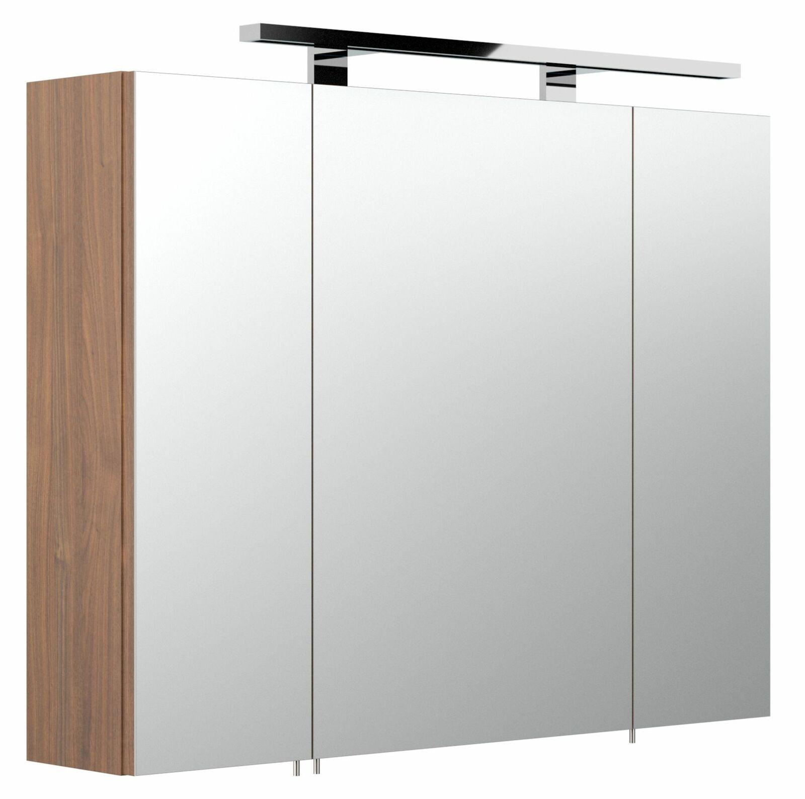 Badezimmer Spiegelschrank 20 cm beleuchtet Wandspiegel LED ...