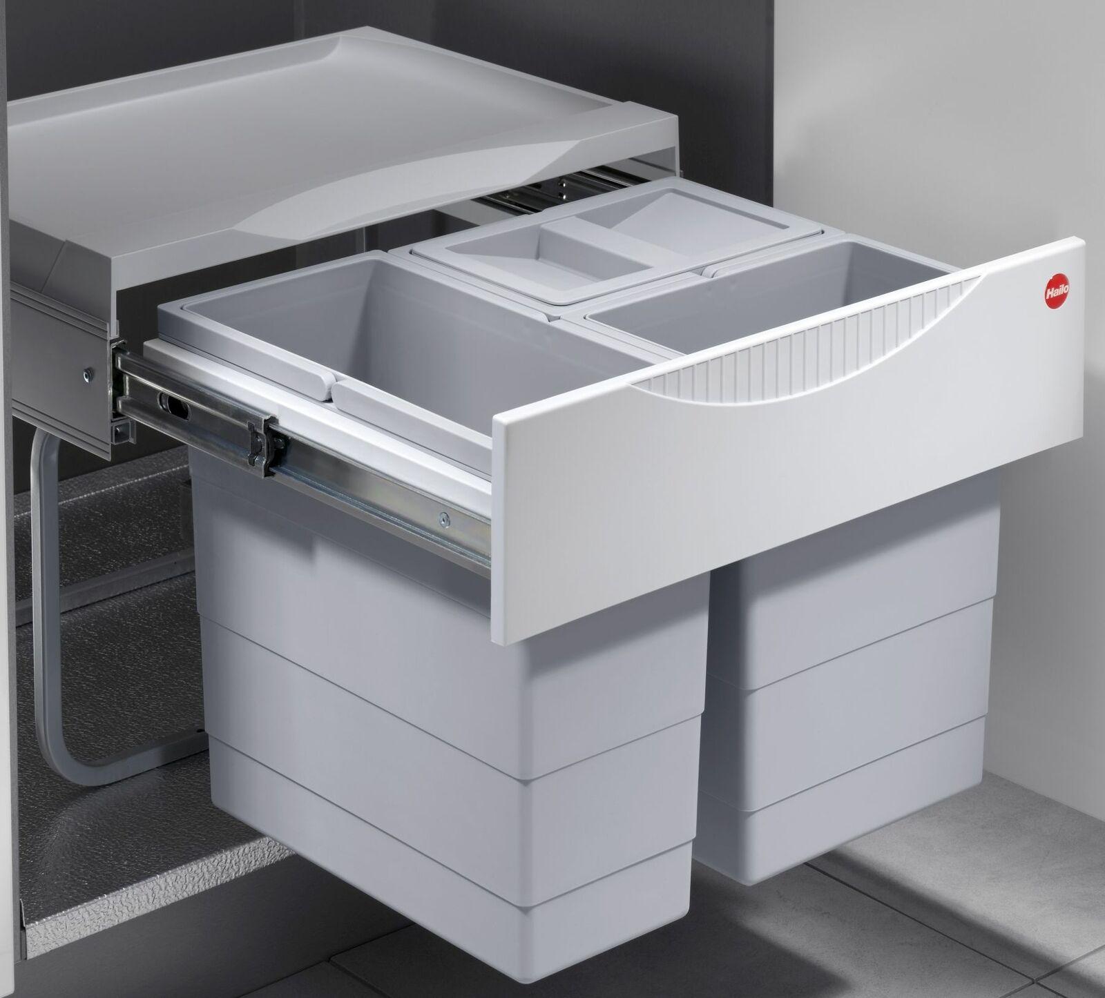 Hailo Einbau Mülleimer Küche 20 L Mülltrenner Müllsystem Bio Abfalleimer  *20