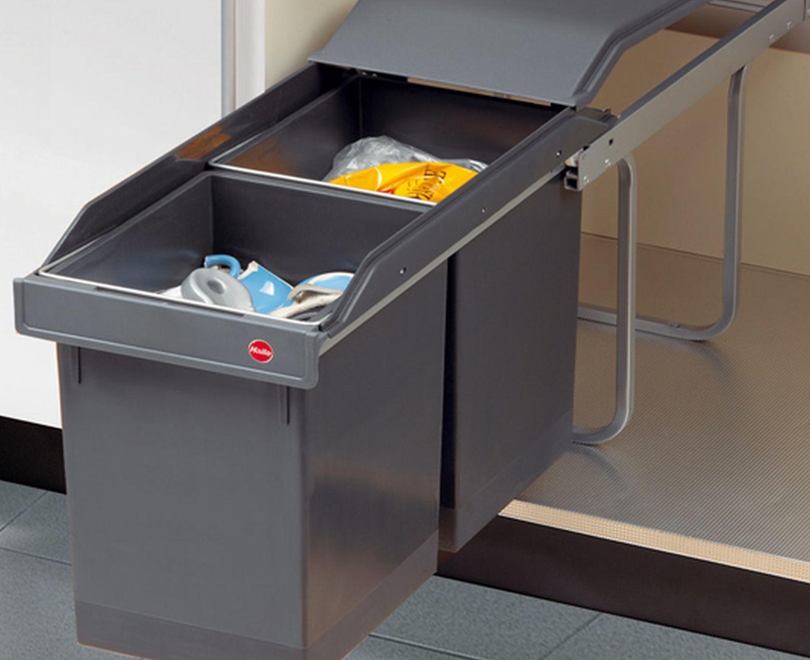 Hailo Tandem Swing Küchen Einbau Abfall-/Mülleimer 2 x 15 L ...