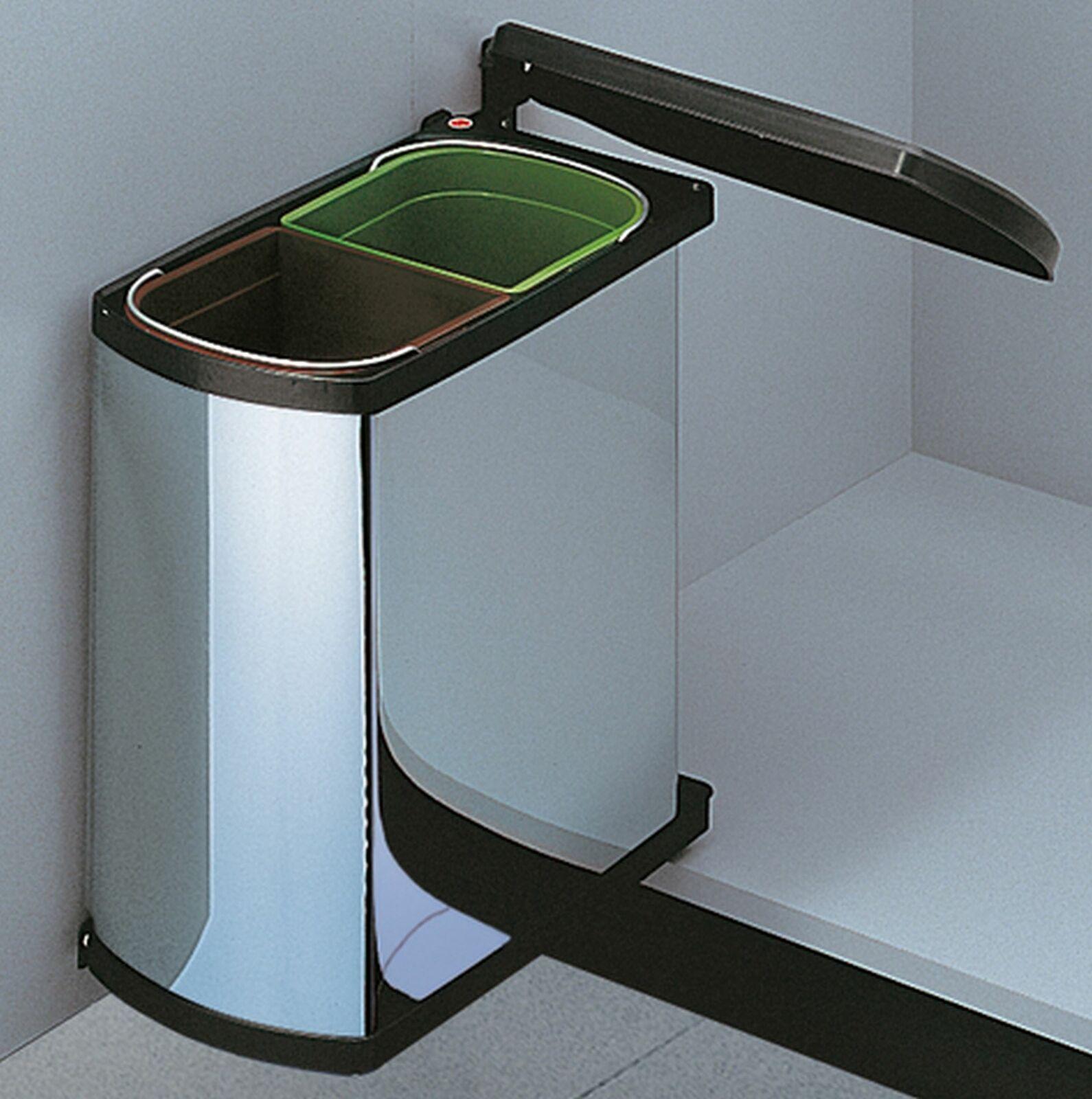 Hailo Duo 45 Küchen Einbau Abfall Mülleimer 2 x 8 Liter Dreh-Kipp ...