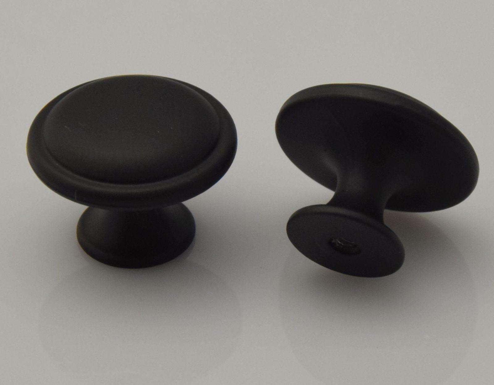 möbelknopf Ø 30 mm türknöpfe schwarz möbelknauf schubladen