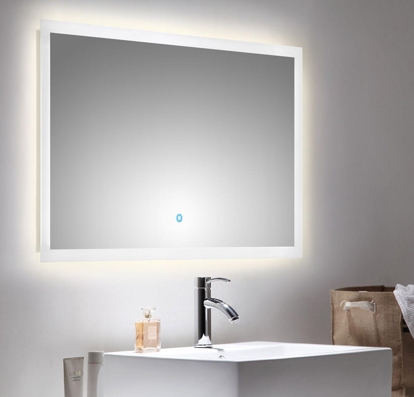 LED Badezimmer Spiegel EMOTION 100 x 60 cm Touch Bedienung 34 Watt ...