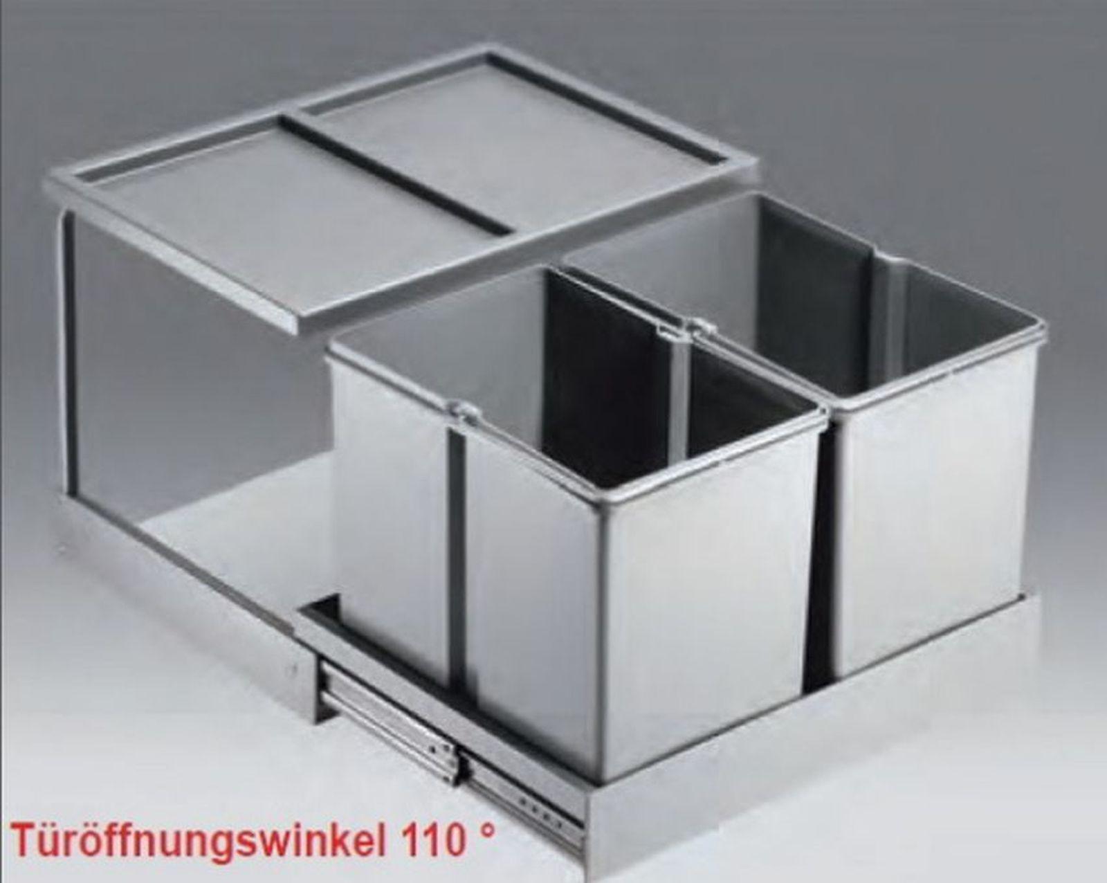 Wesco shorty automatic 2 x 15 liter abfall mulleimer kuche for Mülleimer küche ausziehbar