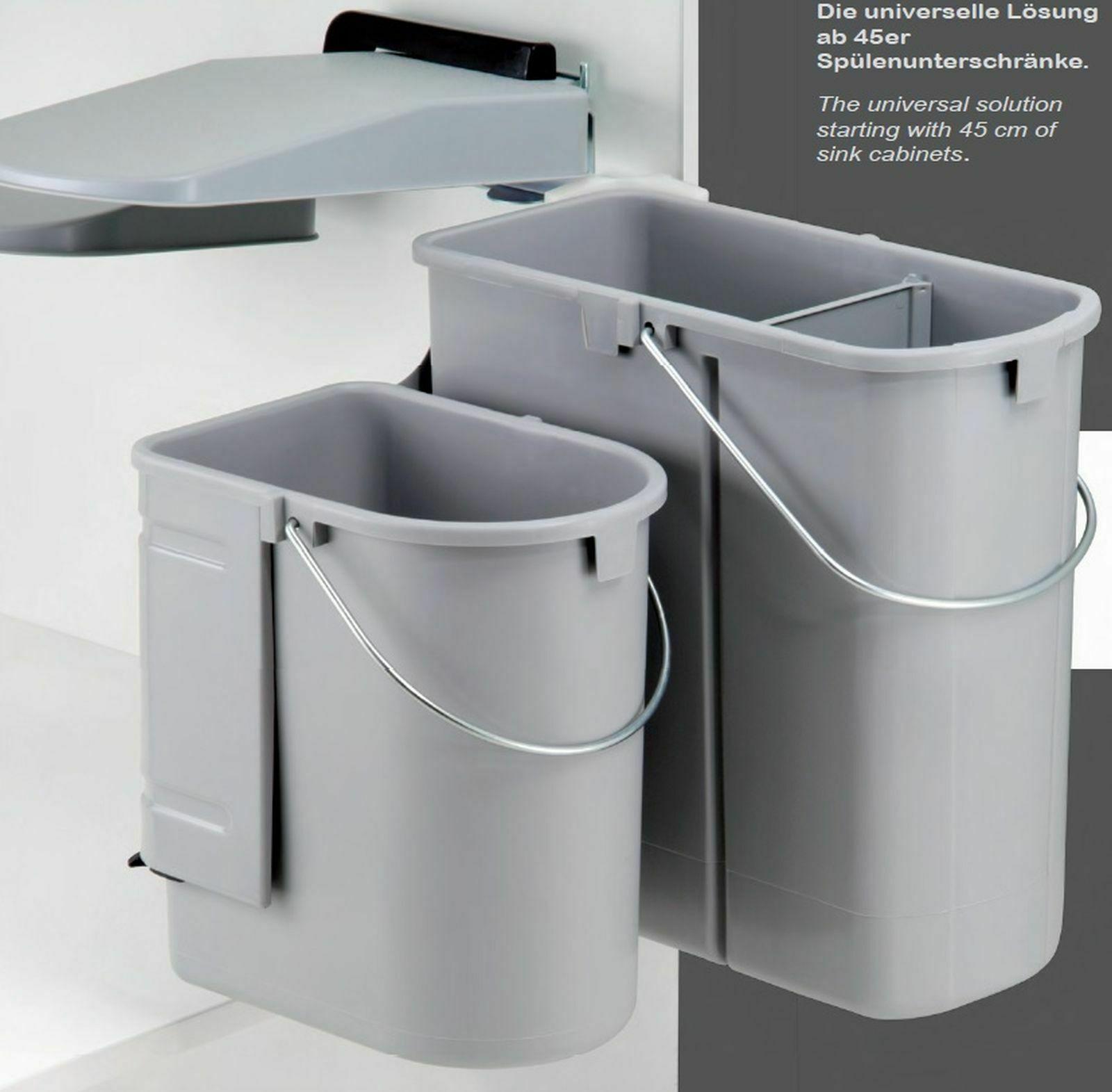 Abfalleimer Küche Mülleimer Türeinbau Wesco Müllsystem Mülltrennung grau  *40700