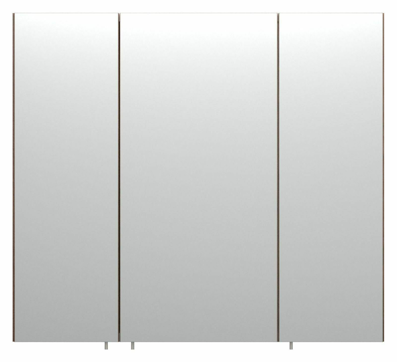 Badezimmer Spiegelschrank 11 cm Spiegel Holzdekor 11-türig ohne Beleuchtung  *11