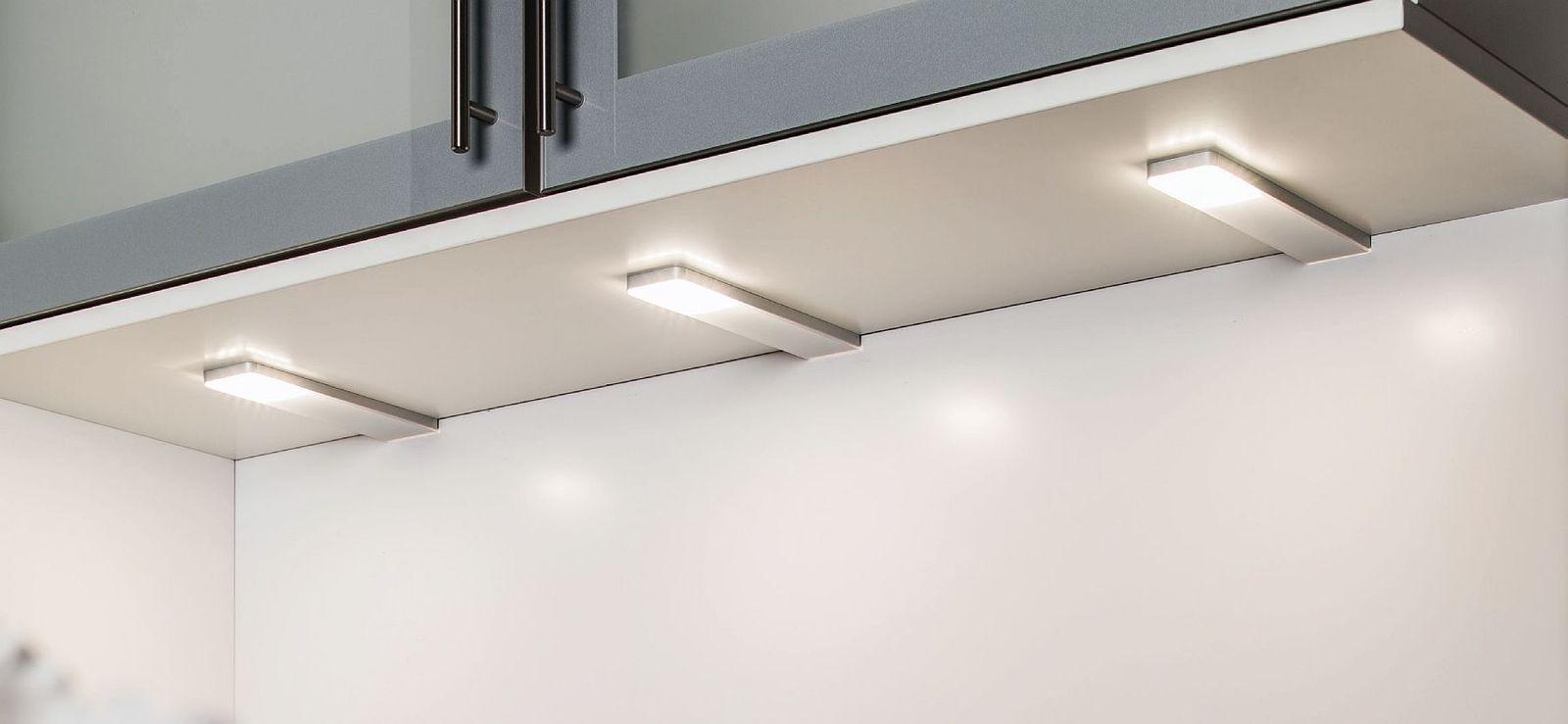 LED 2-er Unterbau Leuchten Set Küche 2 x 5 W Alu Konverter Sensor ...