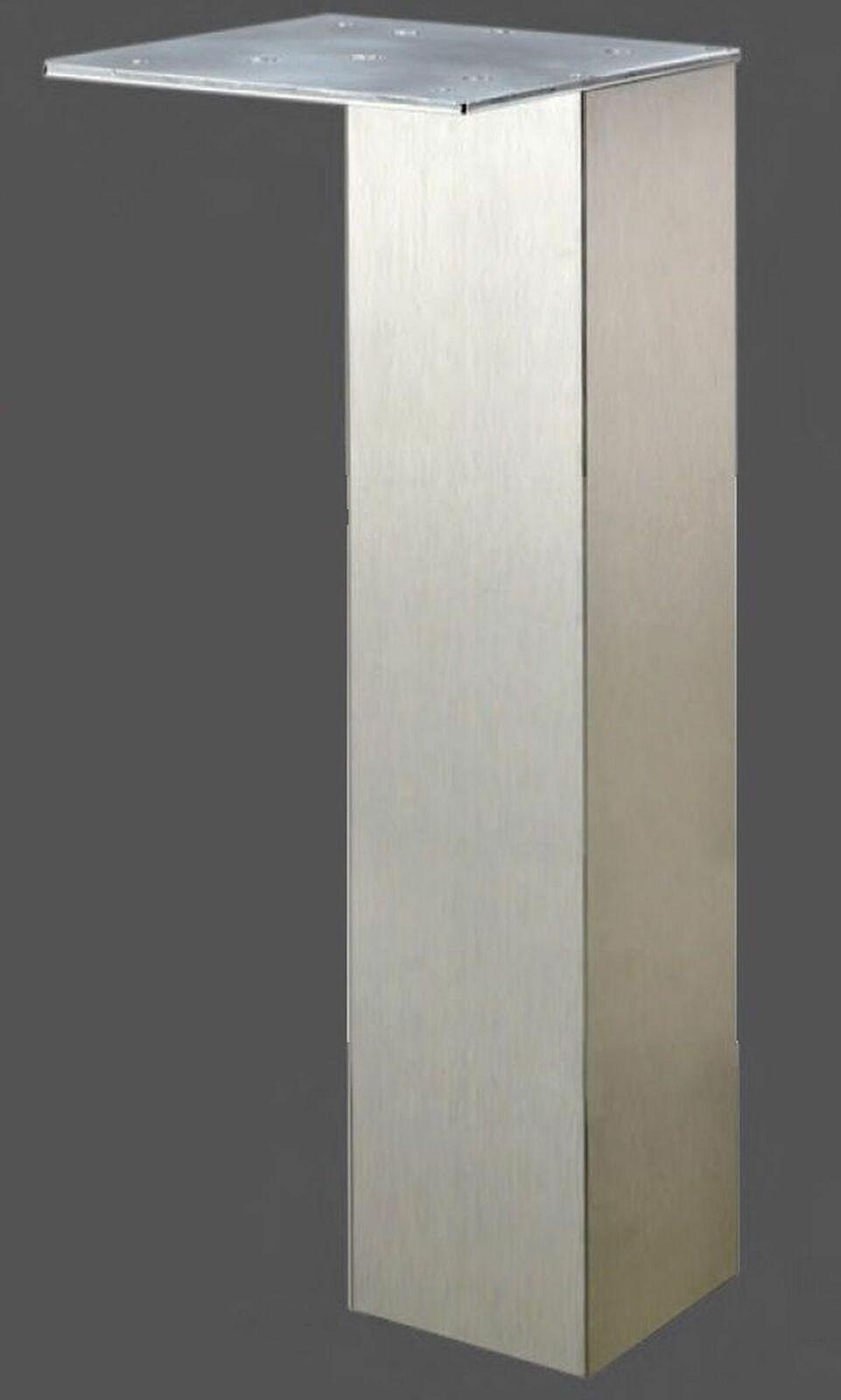 wesco mobel tischbein 8 x 8 cm stutz tischfuss 87 cm tragkraft max 200 kg
